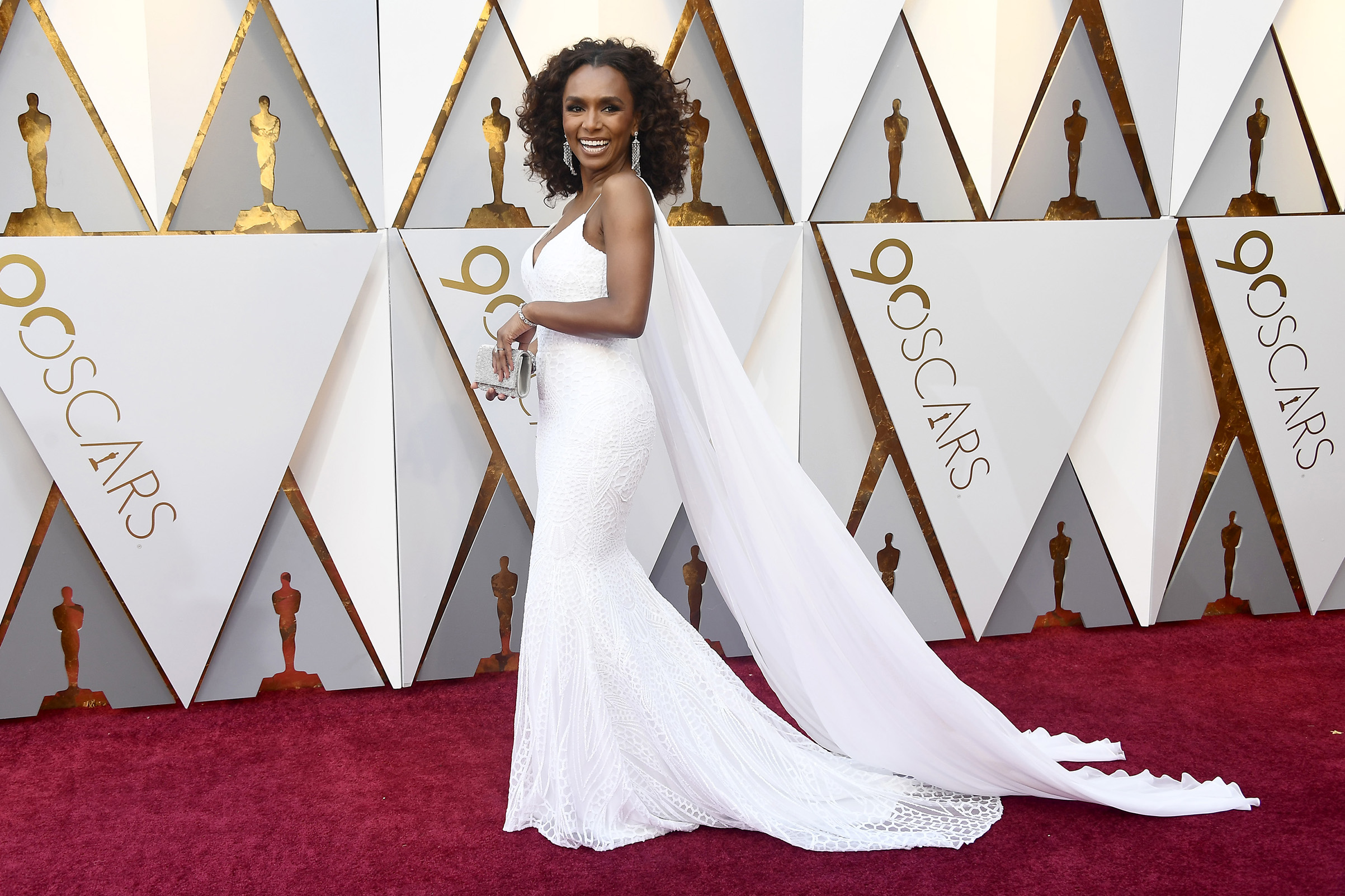 Janet Mock attends the 90th Annual Academy Awards in Hollywood.