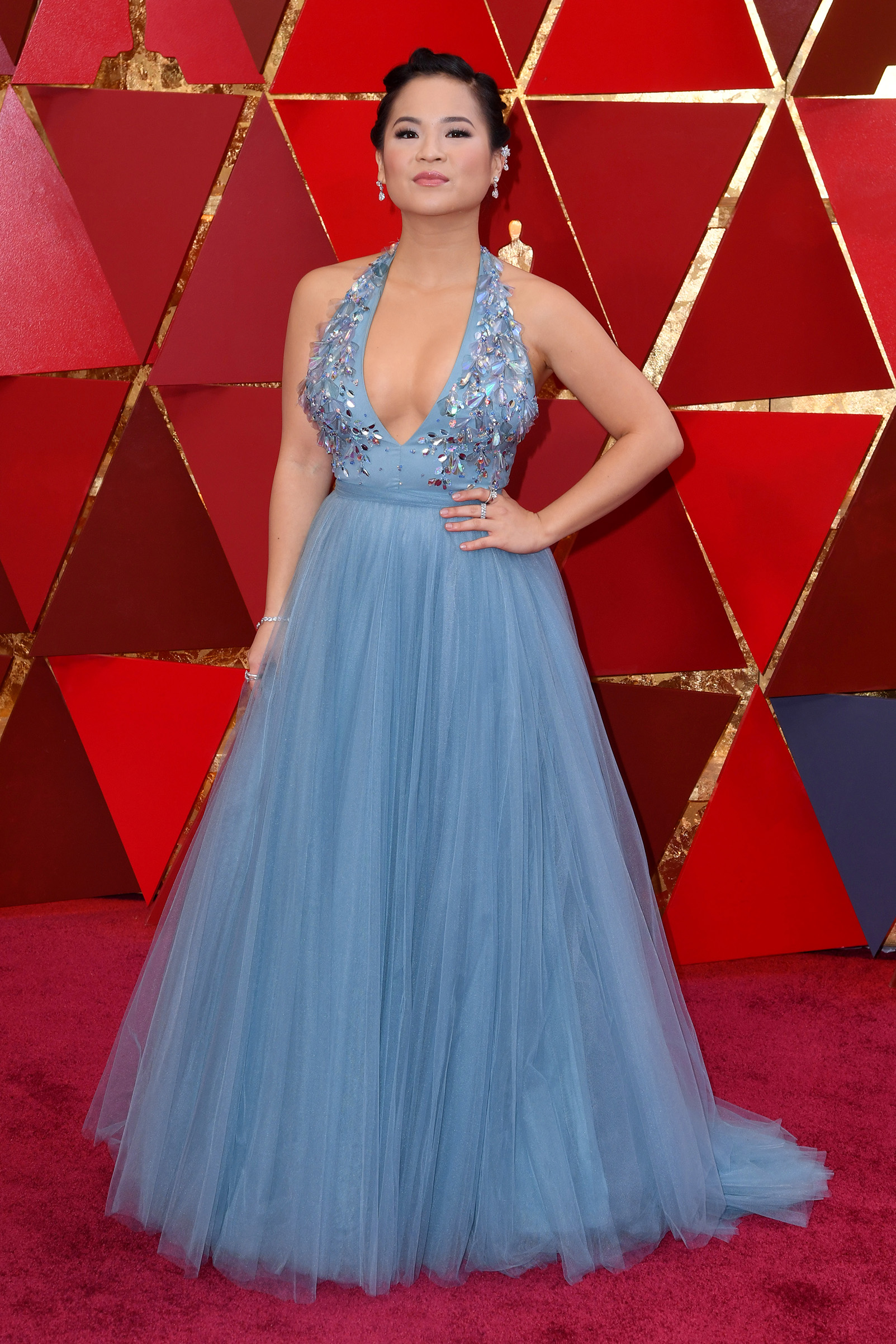 Kelly Marie Tran attends the 90th Annual Academy Awards in Hollywood.