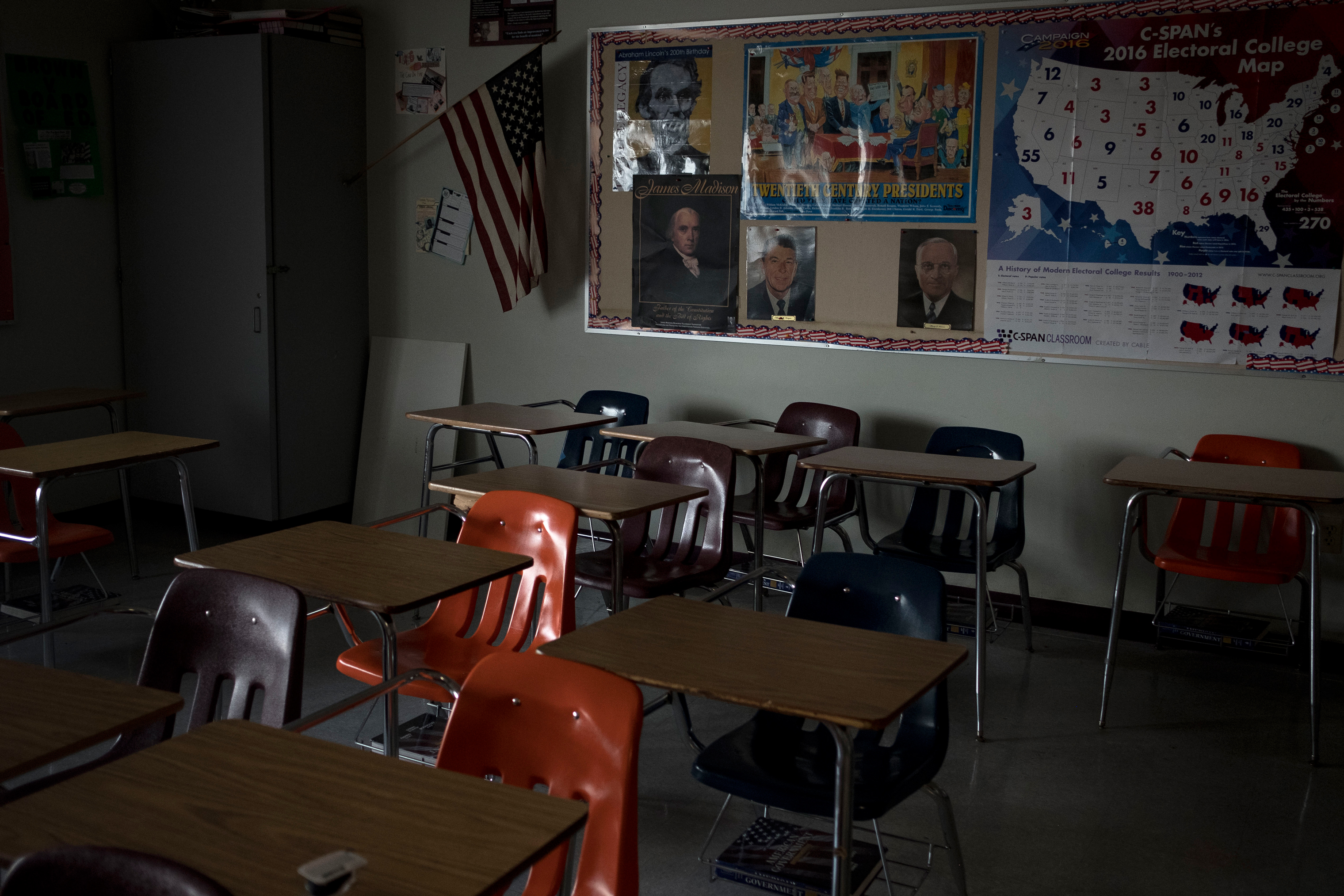Inside the classroom of teacher Jeff Foster at Marjory Stoneman Douglas High School.