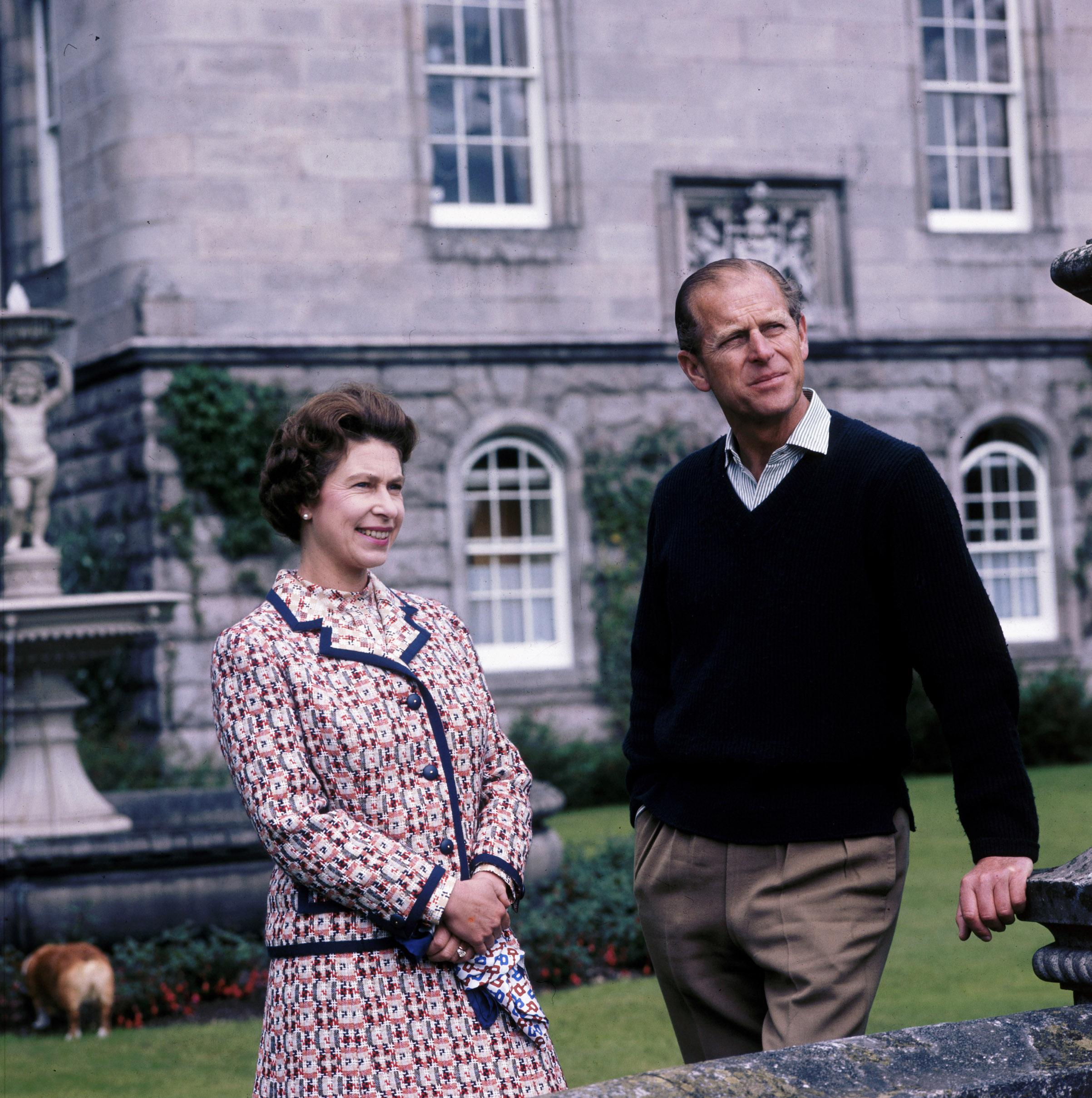 Queen Elizabeth II and Prince Philip at Balmoral, Scotland, 1972.