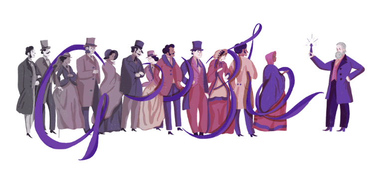 Google Doodle on March 12, 2018.