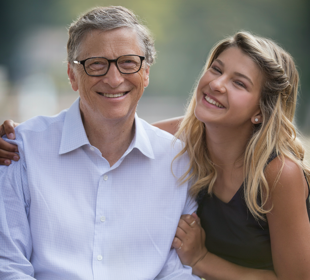 Bill Gates and daughter Phoebe Gates in August 2017
