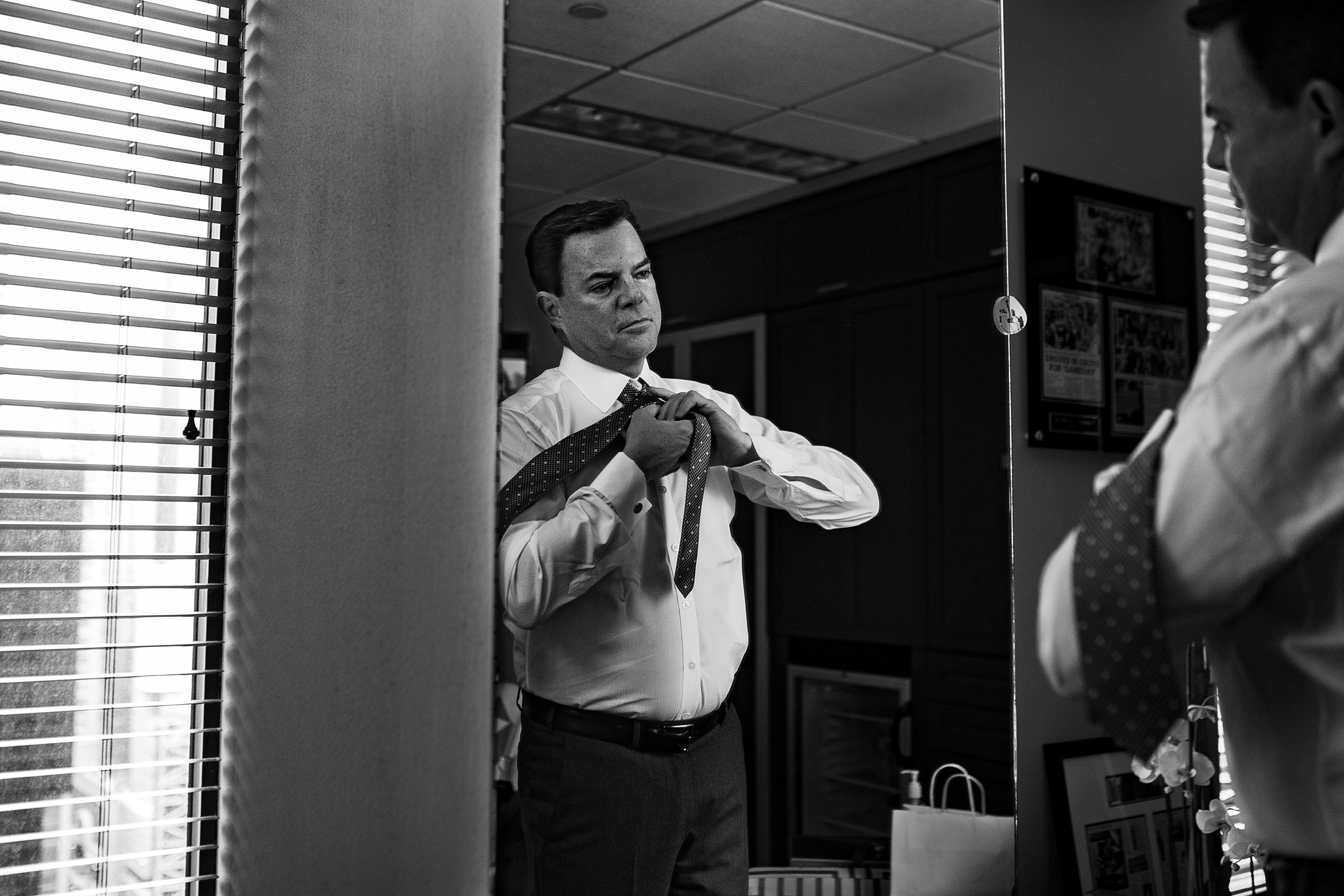 Shepard Smith at Fox News' offices in New York, Thursday, March 1, 2018.