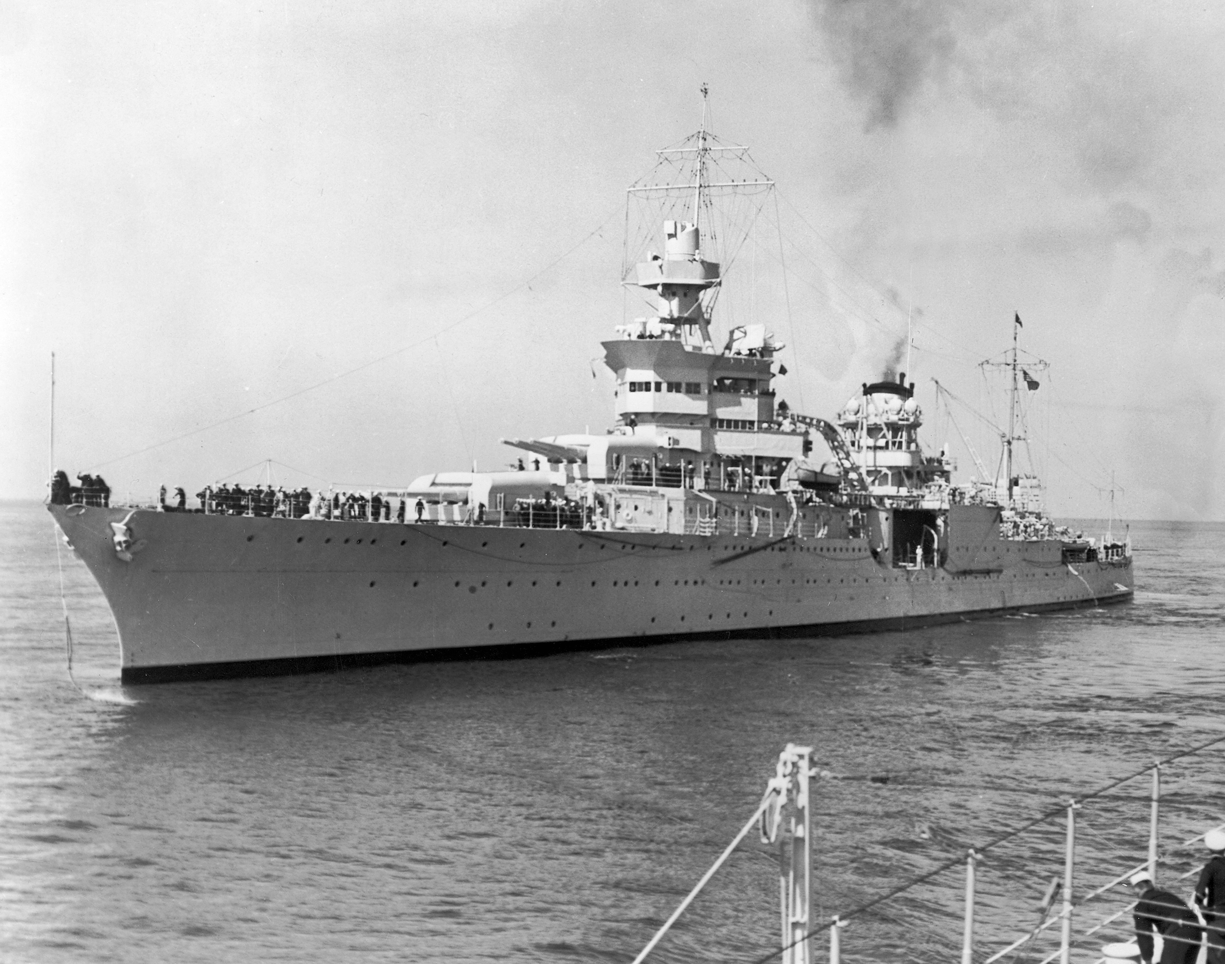 American heavy cruiser USS Indianapolis, in 1943