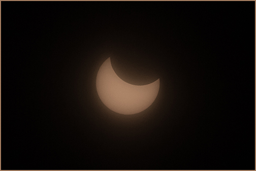 The partial solar eclipse on Feb. 15, 2018, as seen from the U.S. Antarctic Program's Amundsen-Scott South Pole Station in Antarctica.