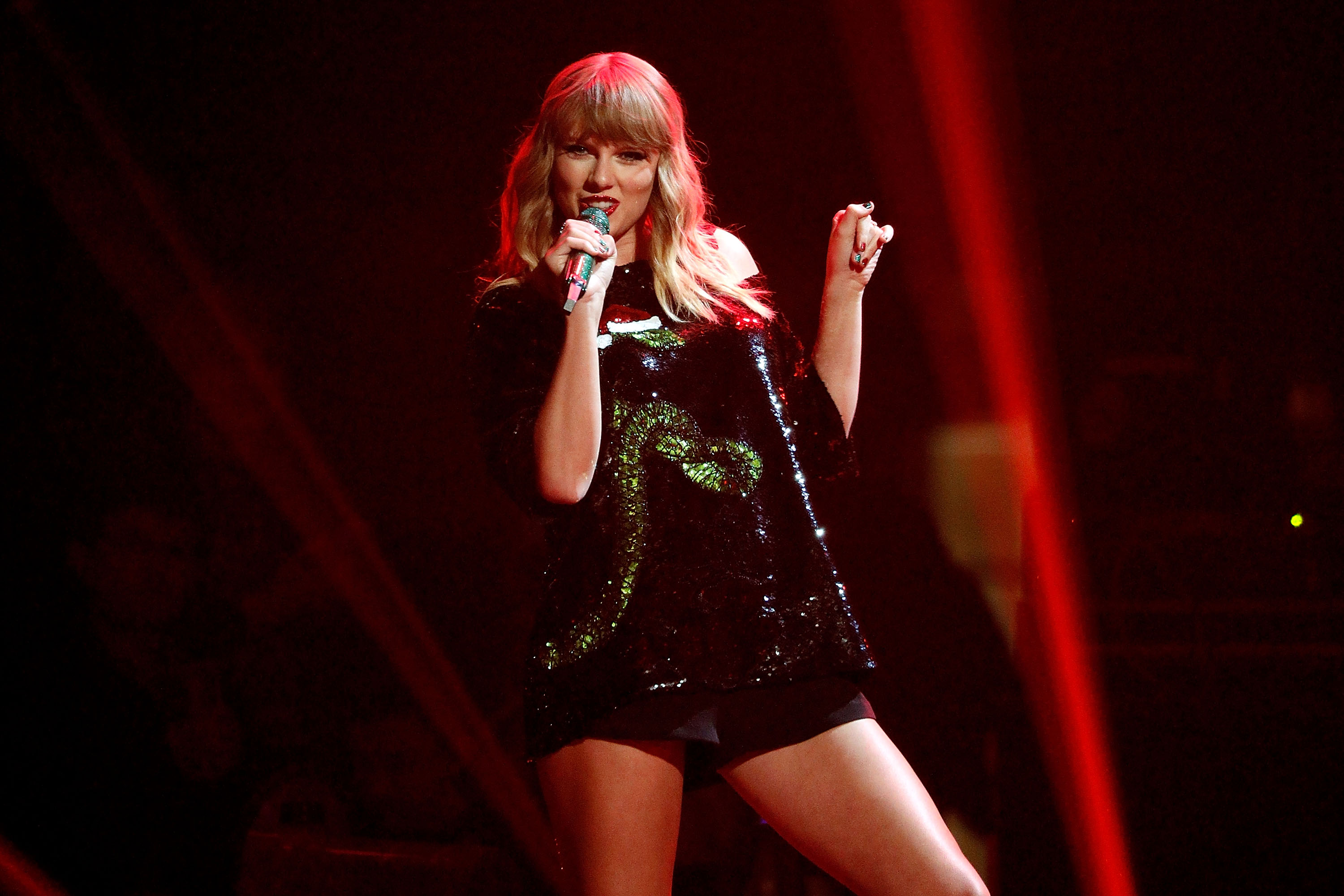 Taylor Swift performs during the 2017 Z100 Jingle Ball at Madison Square Garden on Dec. 8, 2017 in New York City.