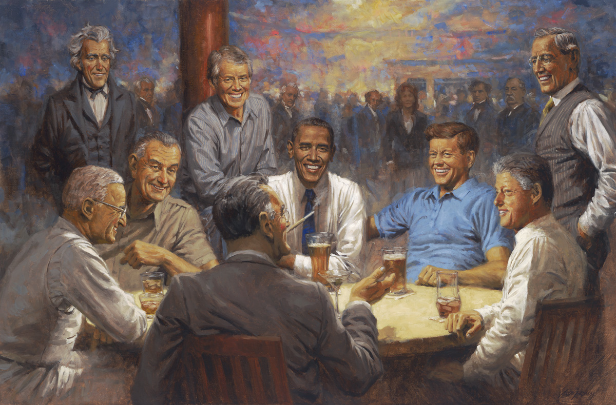 Andy Thomas Democratic Club presidents painting