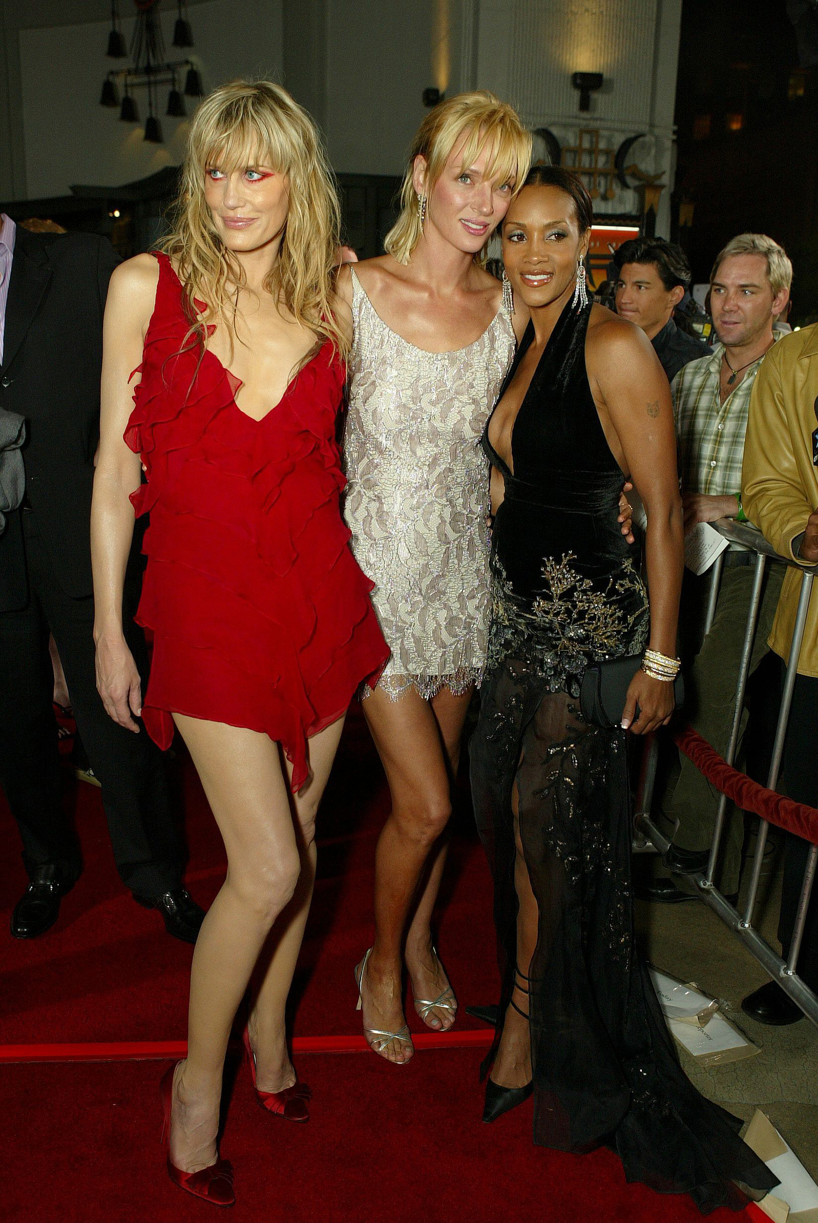 Daryl Hannah, Uma Thurman and Vivica A. Fox at the film premiere of 'Kill Bill: Volume 1' in Los Angeles on Sept. 29, 2003.
