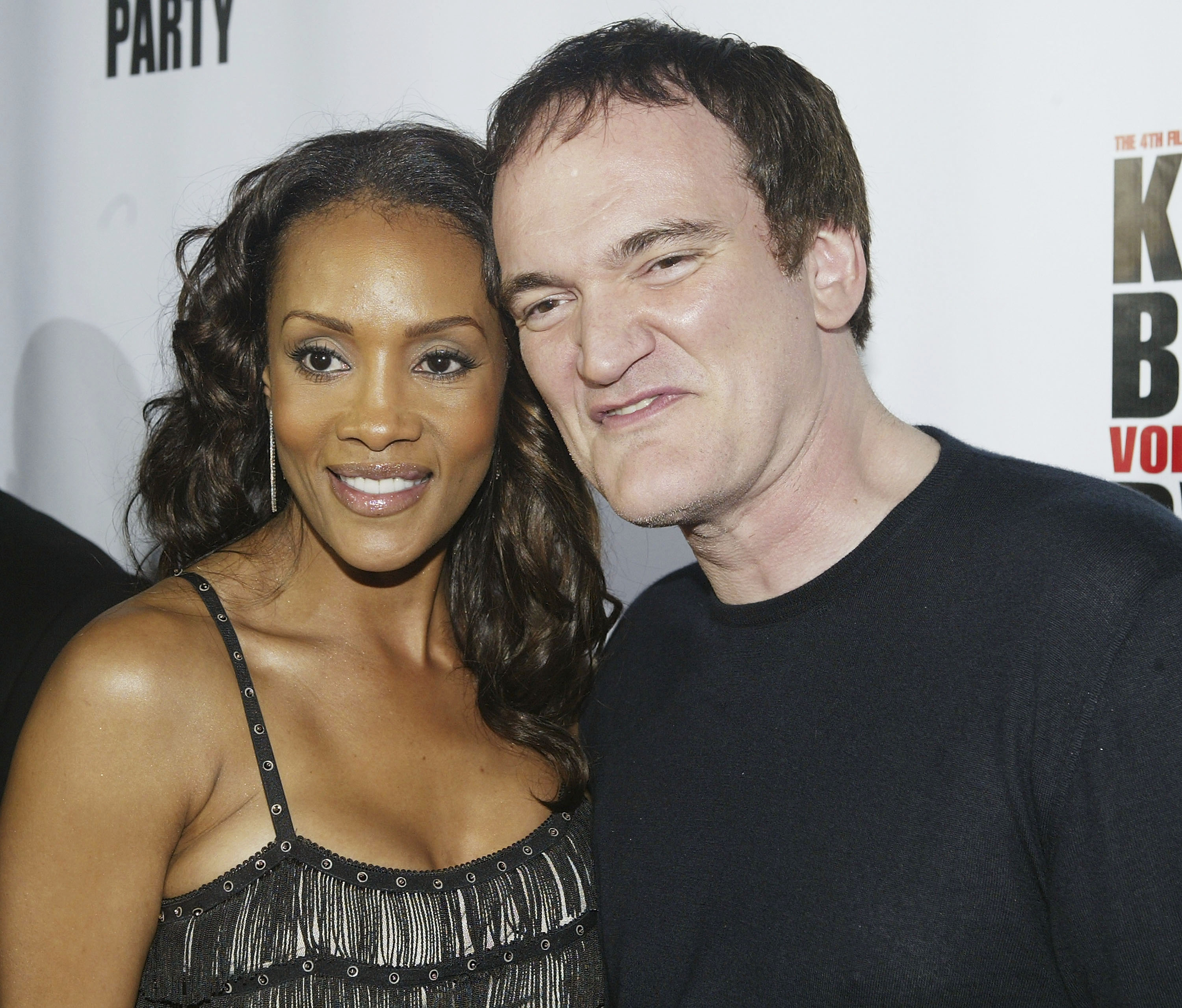 Vivica A. Fox and Quentin Tarantino attend the  Kill Bill Vol. 1 Video Release Party  on April 12, 2004.