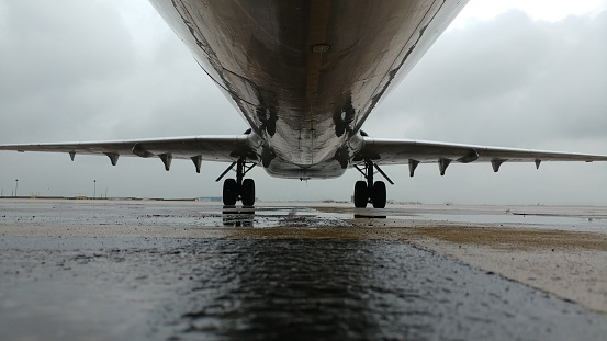 Low angle view of airplane