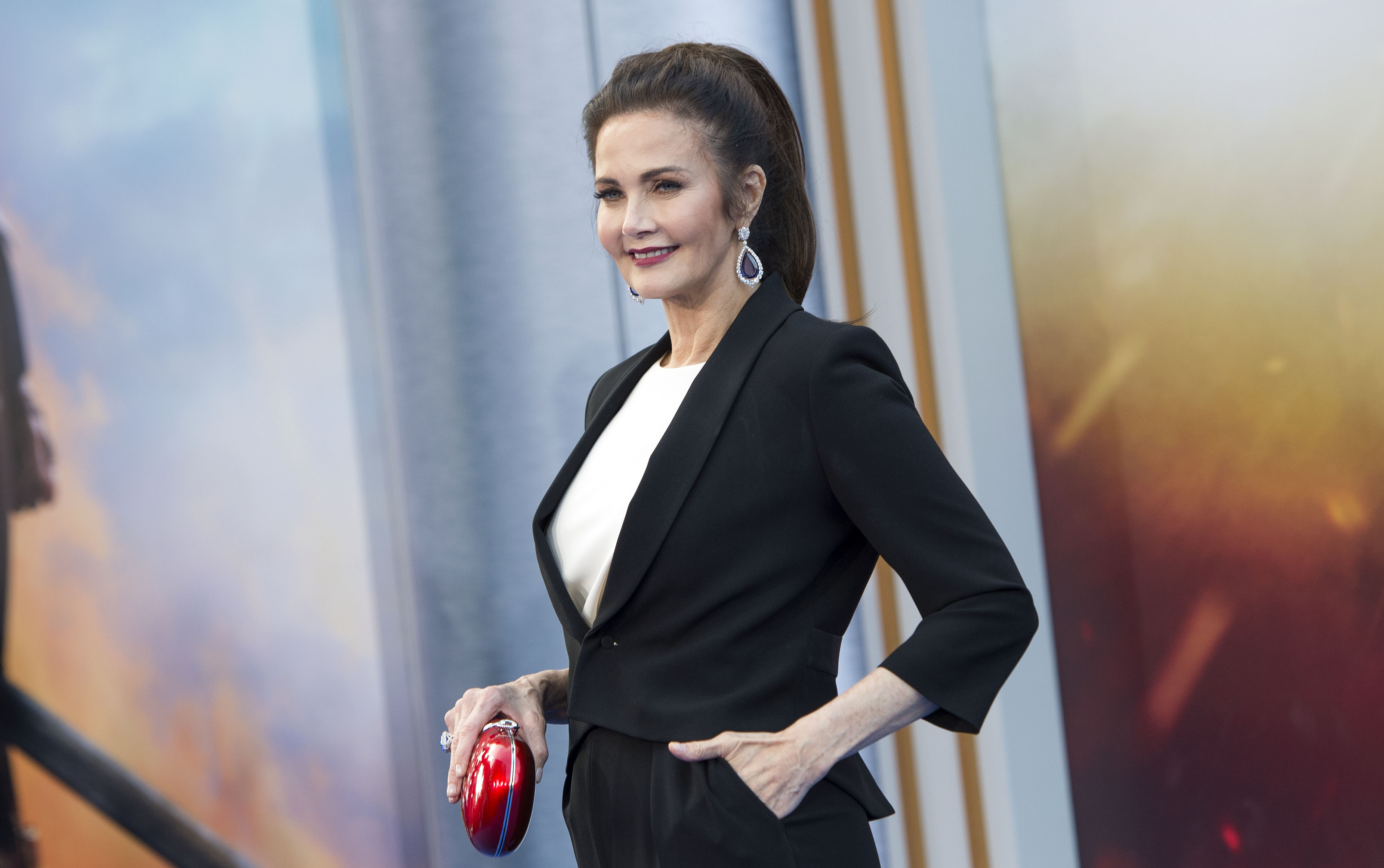 Actress Lynda Carter attends the world premiere of  Wonder Woman  at the Pantages on May 25, 2017 in Hollywood, California. / AFP PHOTO / VALERIE MACON        (Photo credit should read VALERIE MACON/AFP/Getty Images)