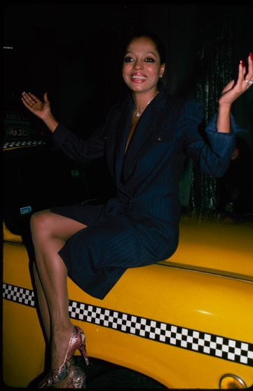 Diana Ross on a taxi cab