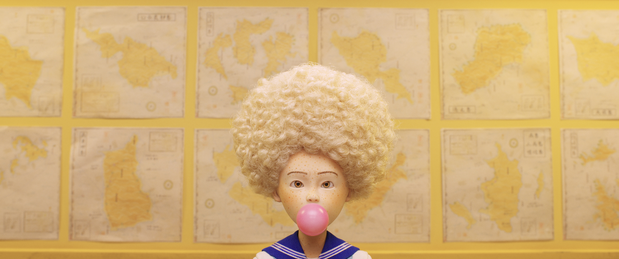 Greta Gerwig's character 'Tracy Walker' in Isle of Dogs.