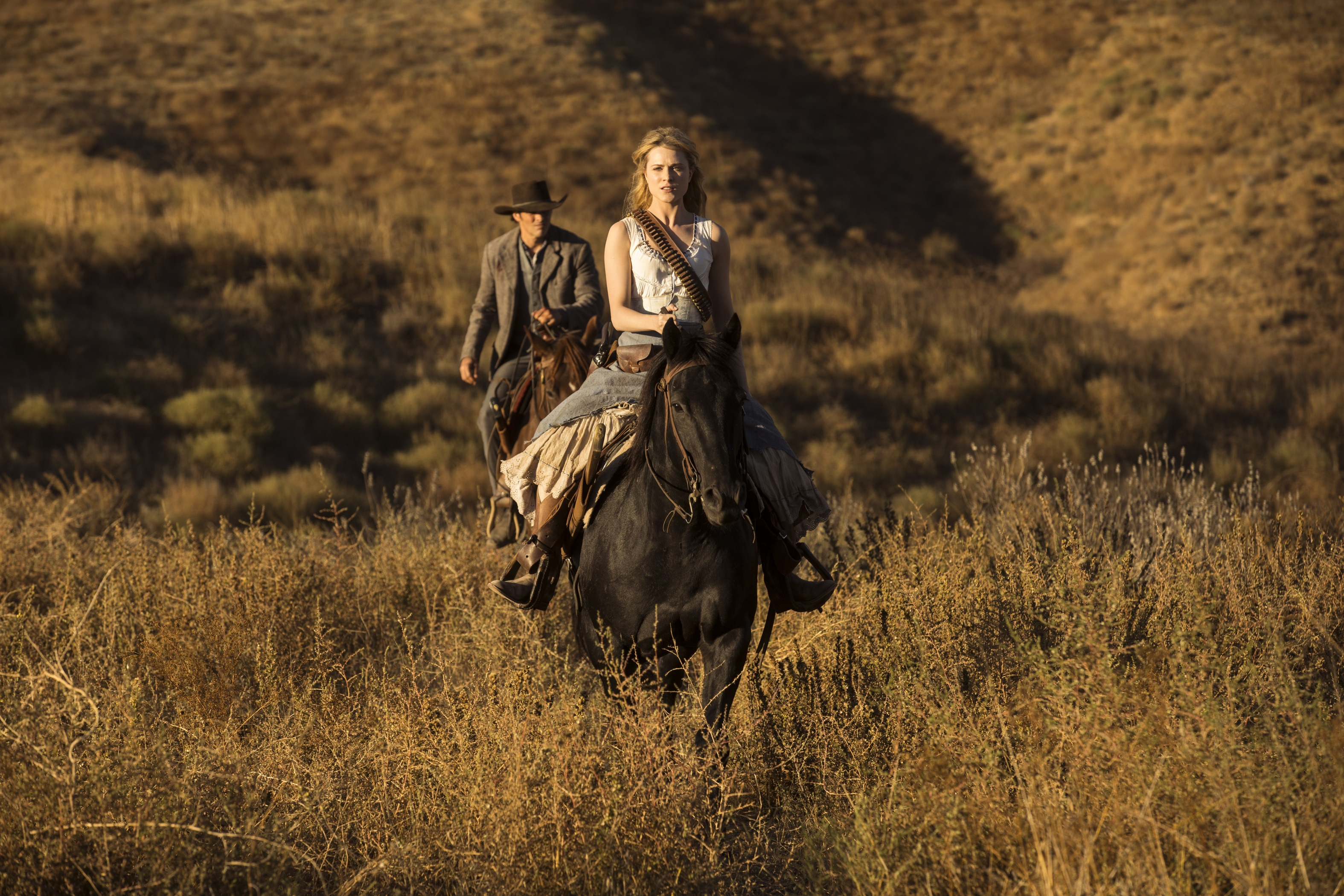 Dolores (Wood) is on a mission of vengeance in Westworld Season 2