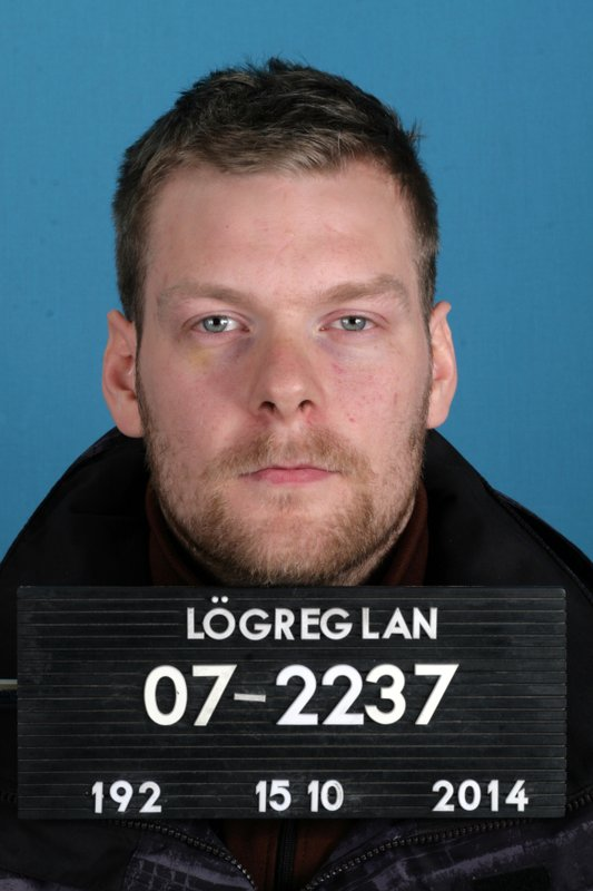 This Oct. 15, 2014 photo shows Sindri Thor Stefansson, the man suspected of masterminding the theft of 600 computers used to mine cyrptocurrency and likely fled to Sweden after a prison break, officials said April 18, 2018.