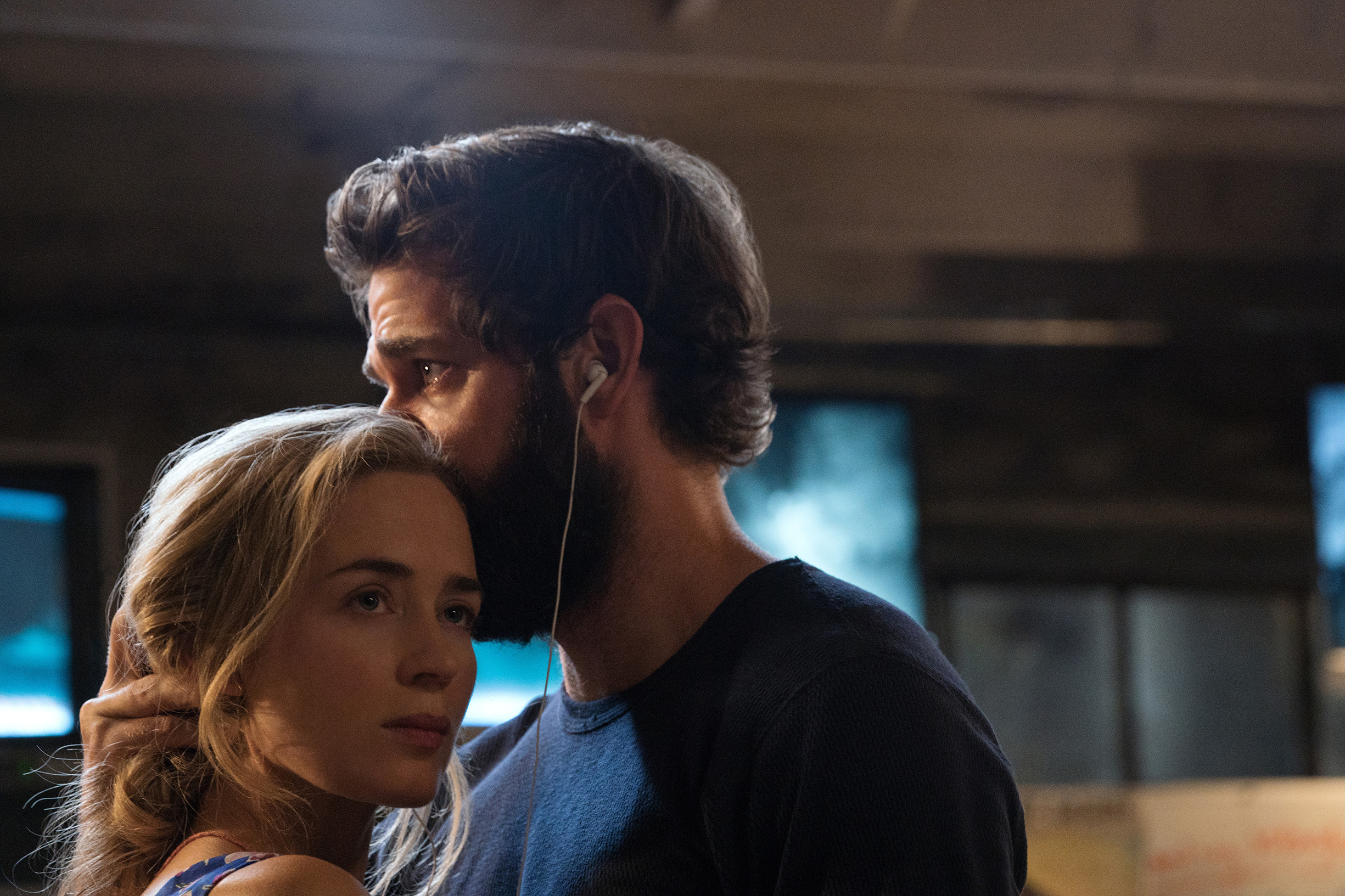 Emily Blunt and John Krasinski in 'A Quiet Place'
