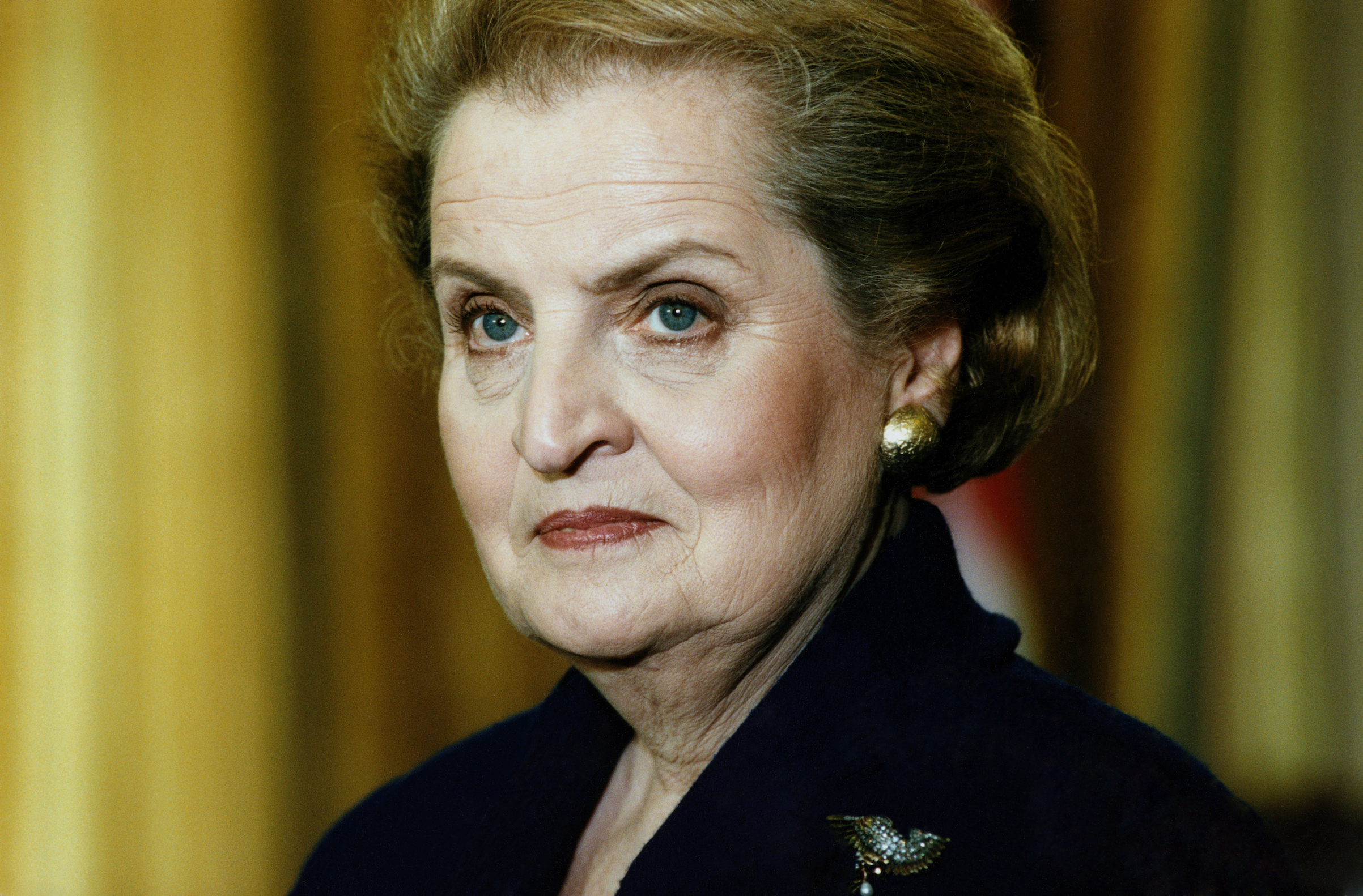 Madeleine Albright pictured in 1997, the year she became the first woman to hold the office of U.S. Secretary of State.