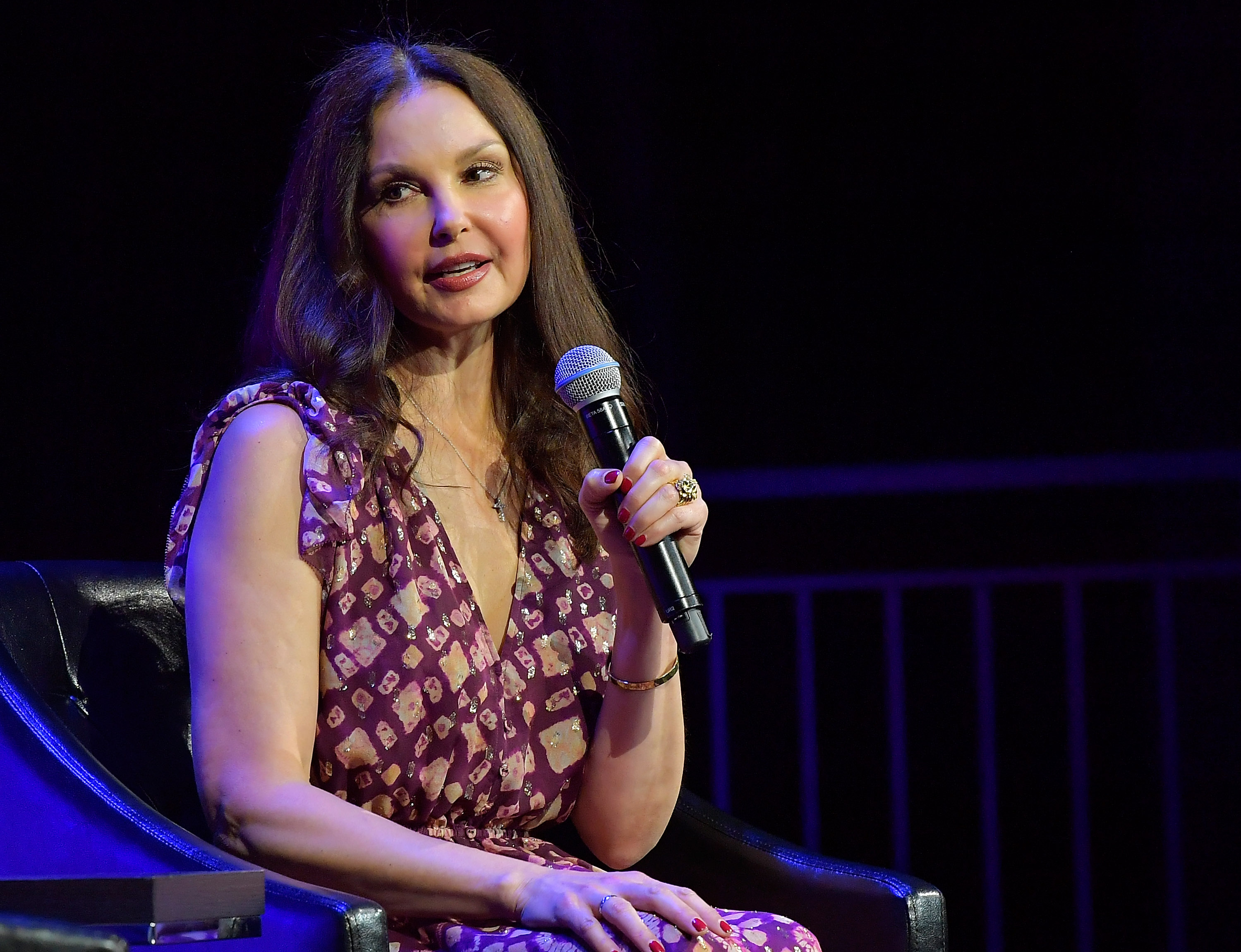 Ashley Judd speaks onstage at  Time's Up  during the 2018 Tribeca Film Festival at Spring Studios on April 28, 2018 in New York City.