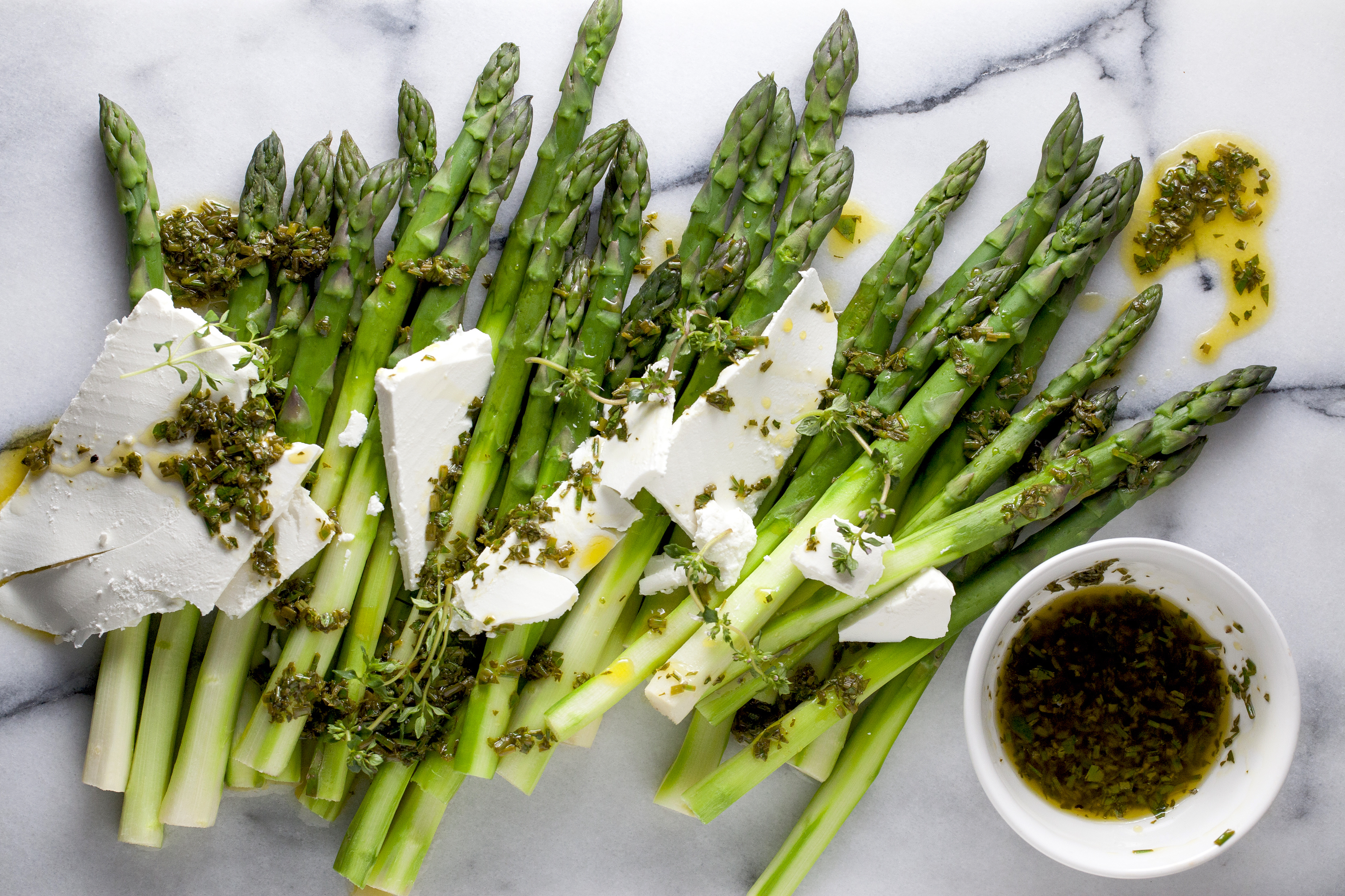 Asparagus salad recipe by Teresa Cutter of The Healthy Chef.