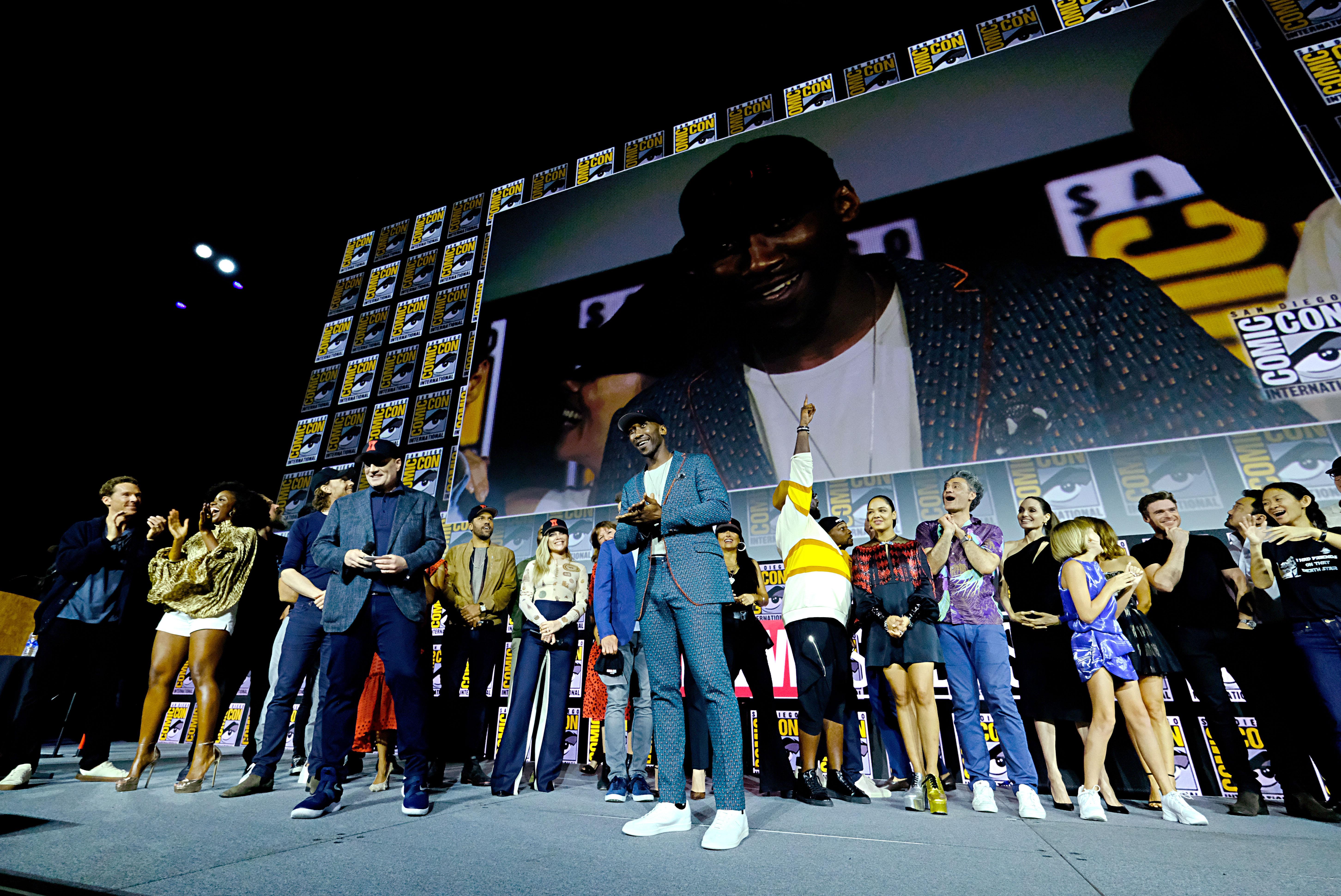 Mahershala Ali (C) of Marvel Studios' 'Blade' at San Diego Comic-Con 2019