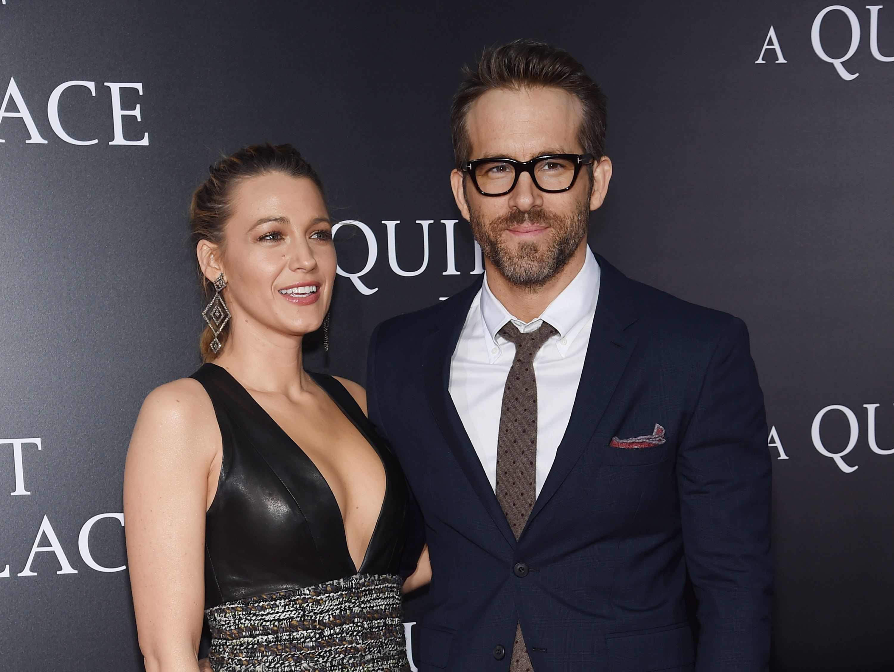 NEW YORK, NY - APRIL 02:  Blake Lively and Ryan Reynolds attend the premiere for  A Quiet Place  at AMC Lincoln Square Theater on April 2, 2018 in New York City.  (Photo by Jamie McCarthy/Getty Images)