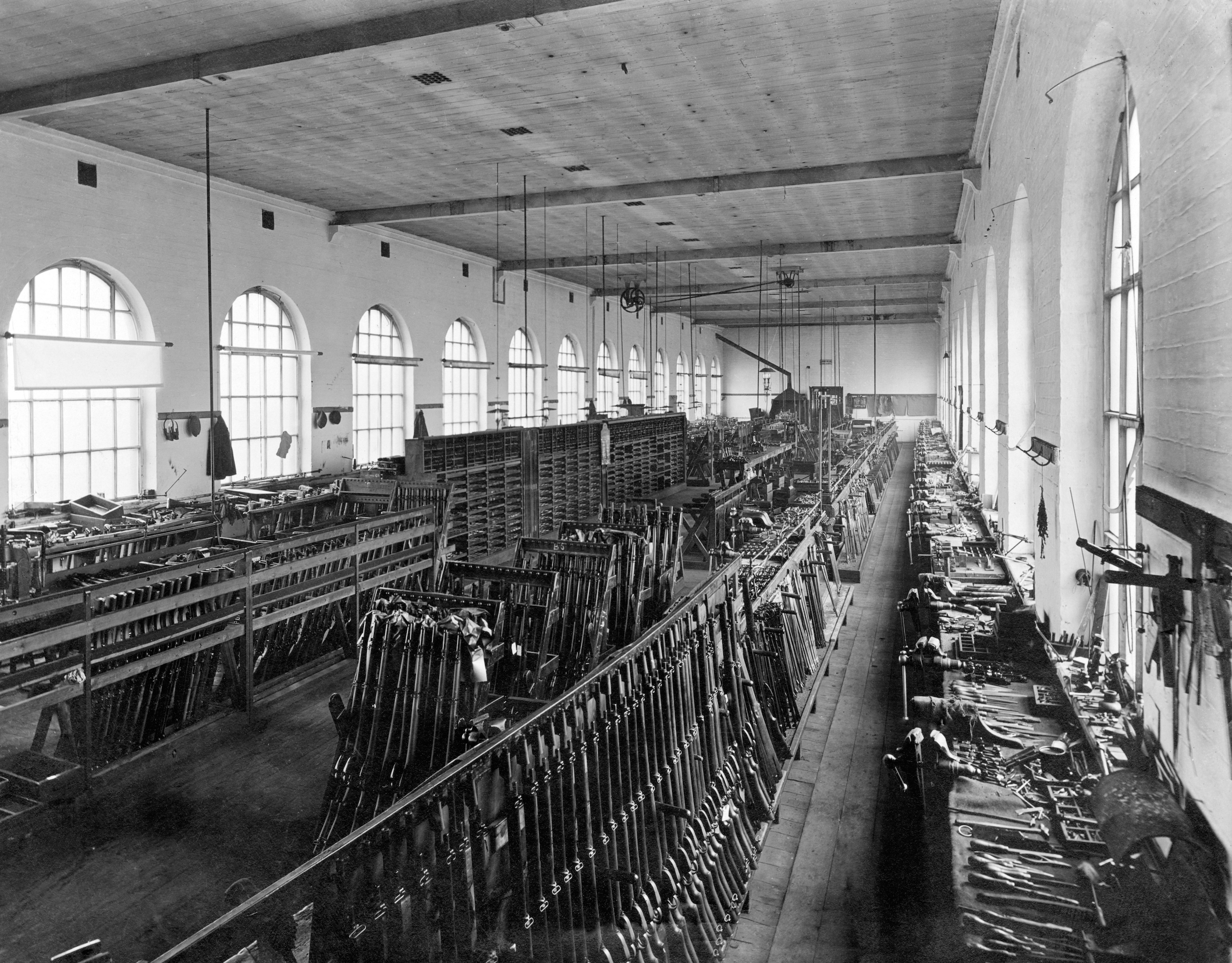 Interior of the Birmingham Small Arms Company Limited (BSA), Circa 1930s.