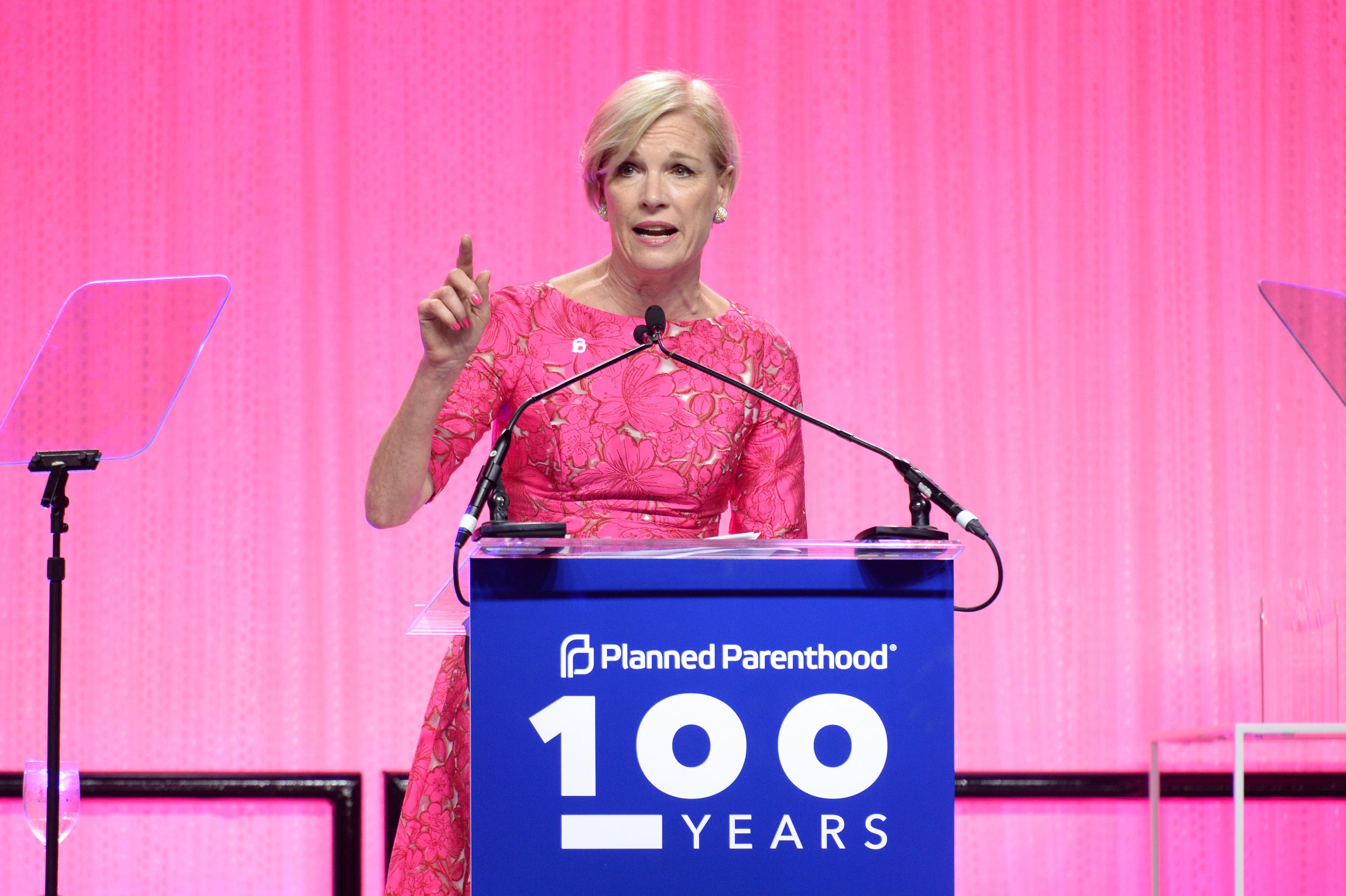 Cecile Richards speaks at the Planned Parenthood 100th Anniversary Gala on May 2, 2017 in New York City