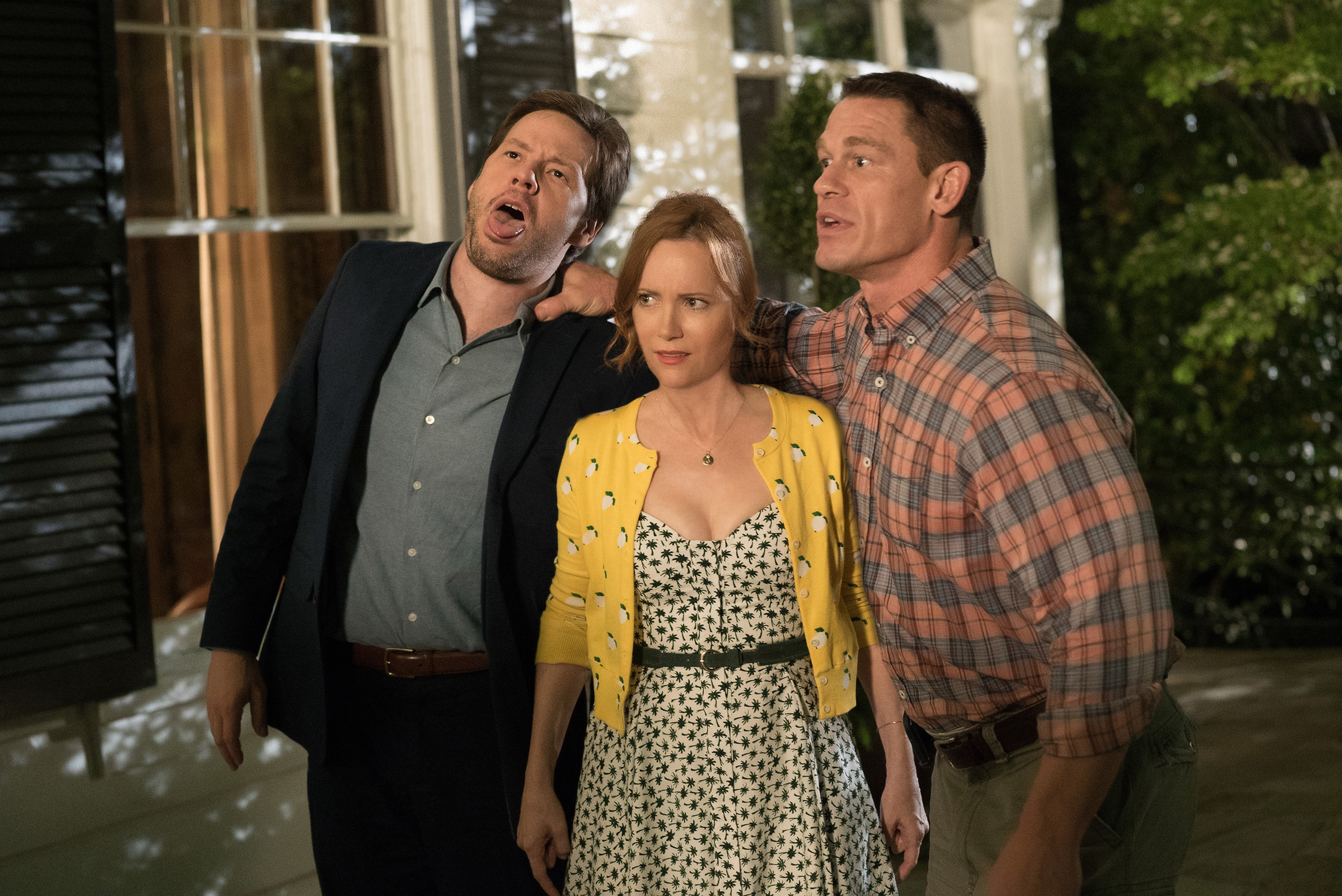Ike Barinholtz, Leslie Mann and John Cena star in  Blockers,  the directorial debut of Kay Cannon.