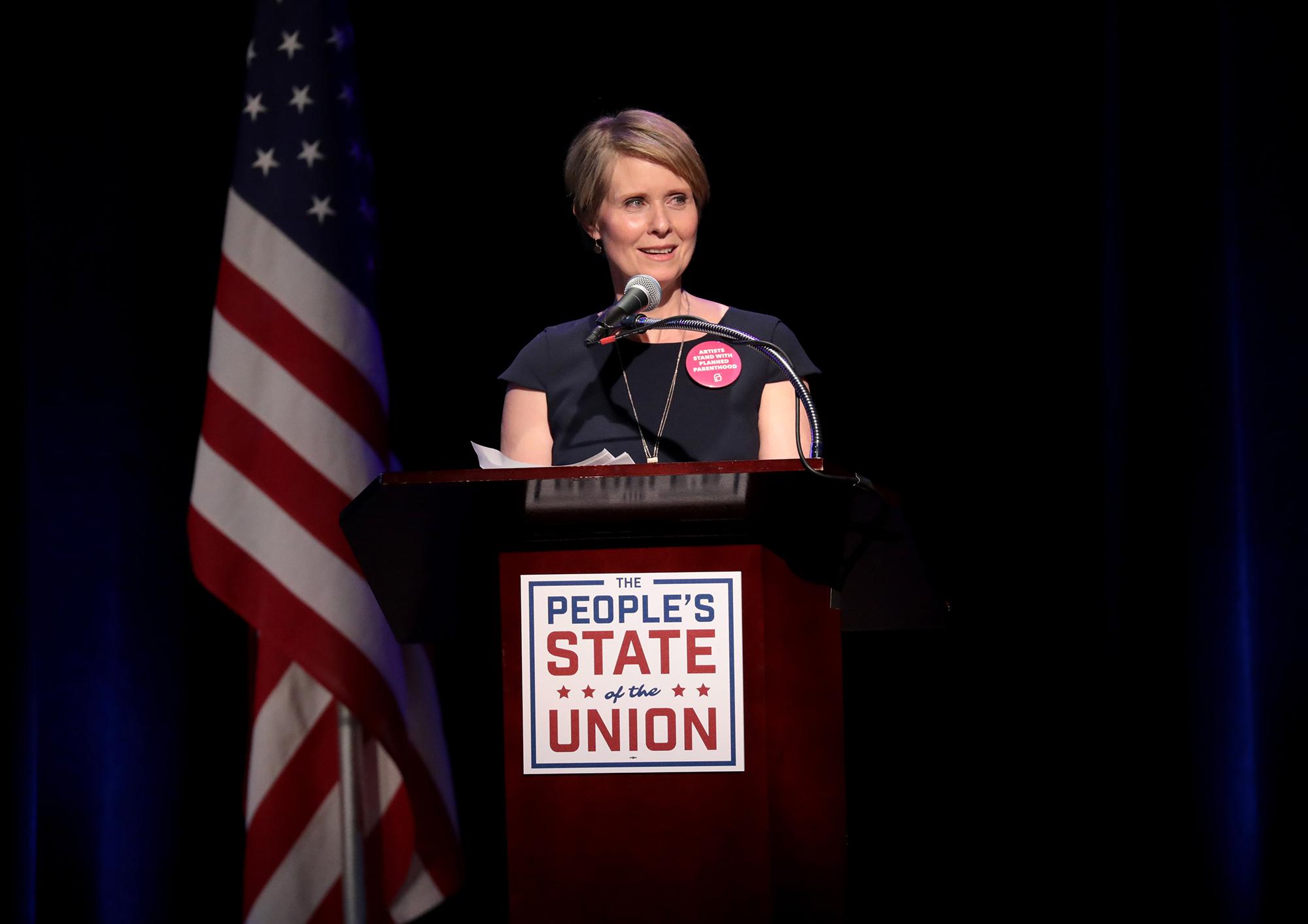 Gubernatorial hopeful Cynthia Nixon