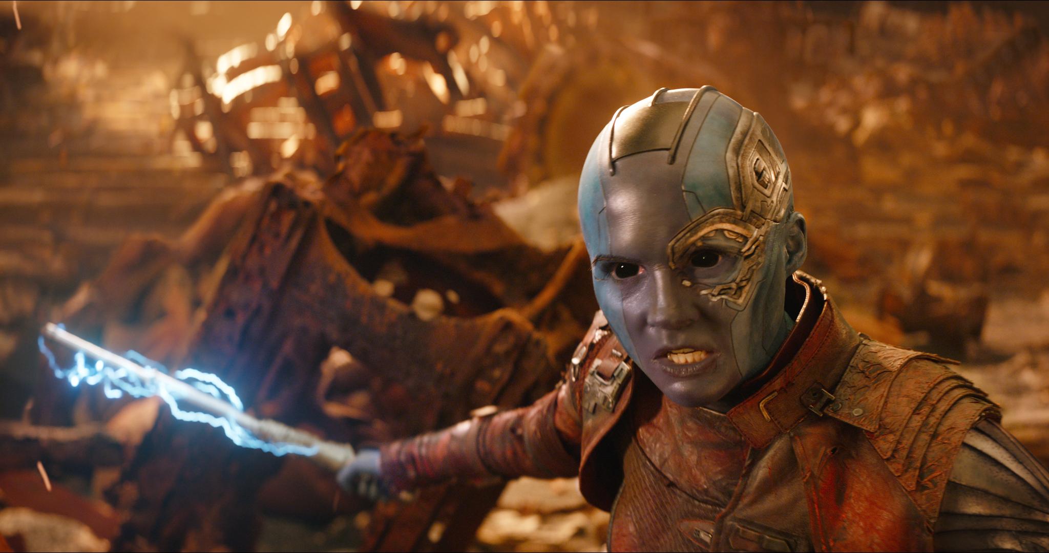 Nebula (Karen Gillan) in Avengers Infinity War