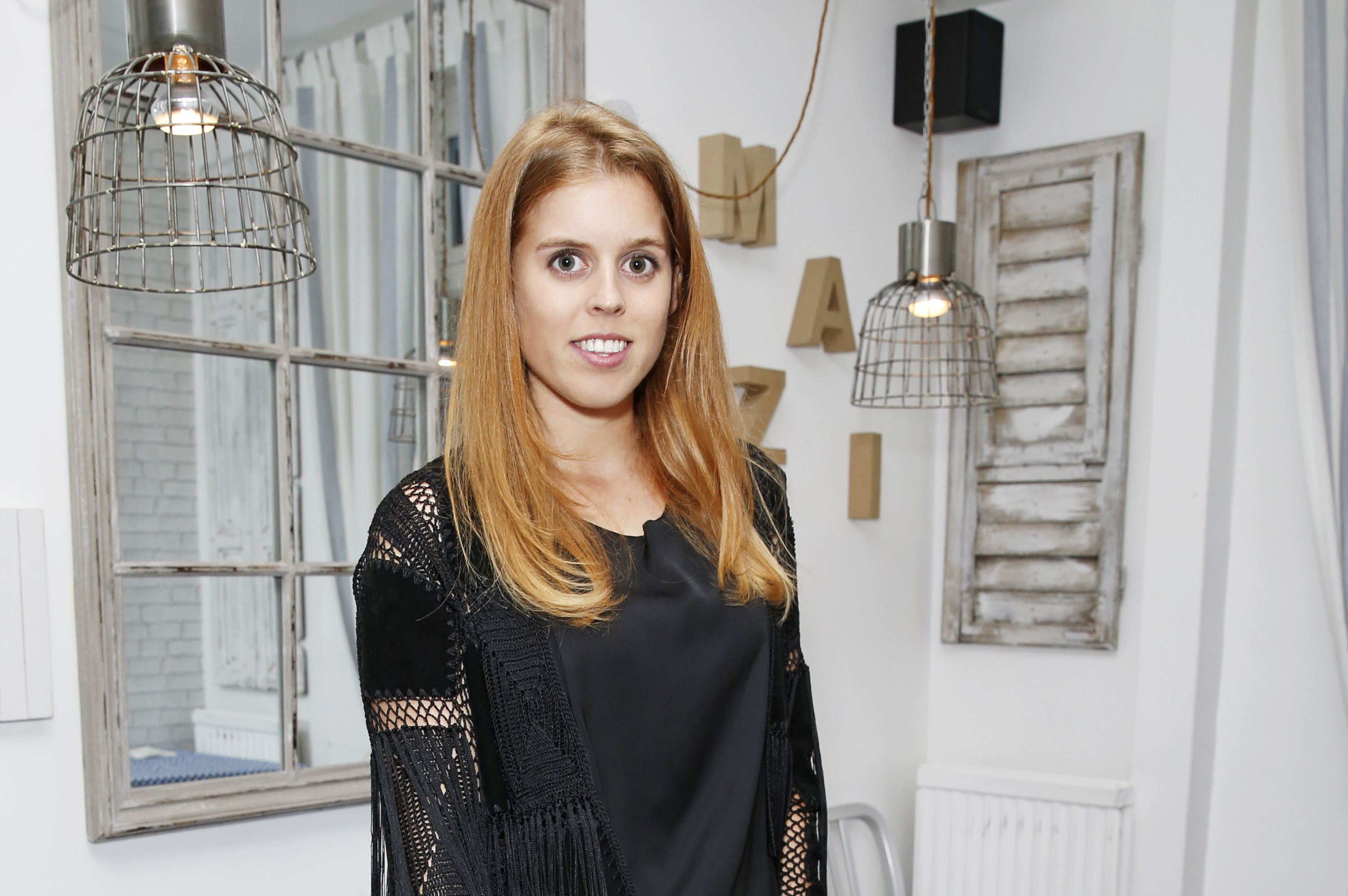 Princess Beatrice of York attends Mazi's Summer Party with guest of honor Eugenie Niarchos, Venyx World, on June 24, 2014 in London, England.