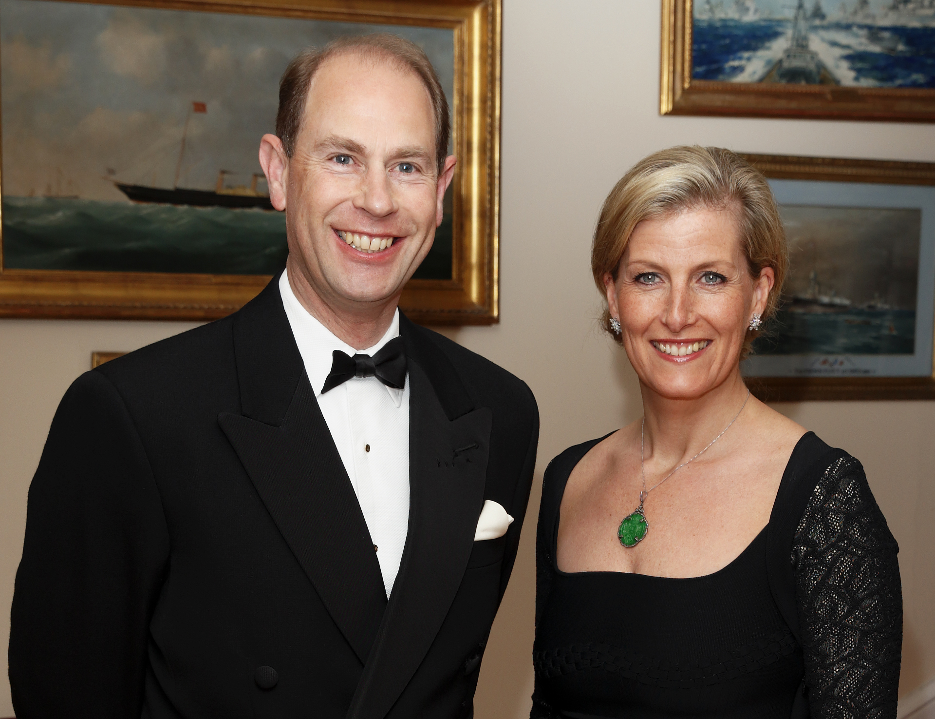 Prince Edward, Earl of Wessex and Sophie, Countess of Wessex attend a gala fundraising dinner on the Isle of Wight on March 27, 2014 in Cowes, England.