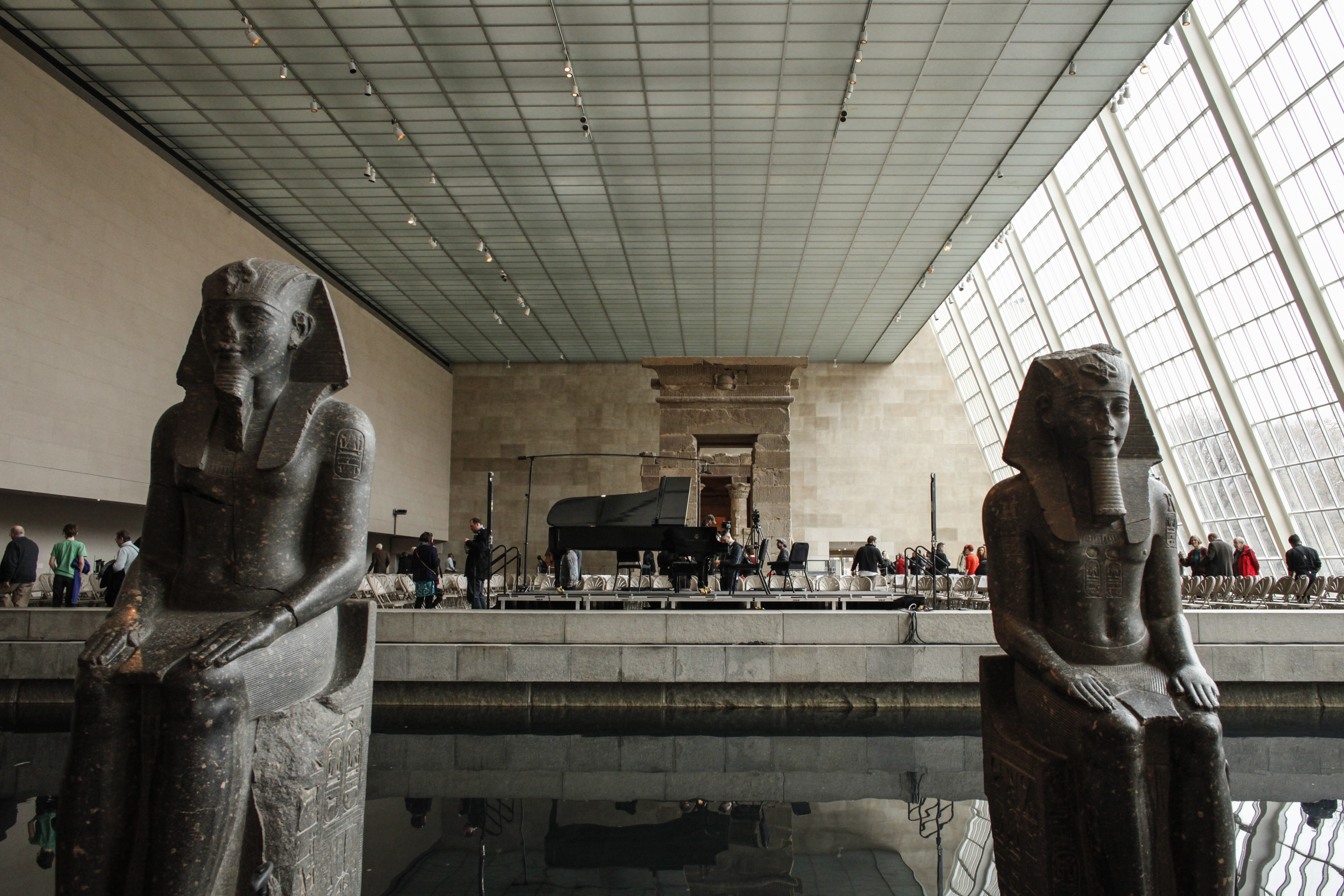 A general View of The Temple of Dendur inside the Metropolitan Museum of Art in New York on March 13, 2016.
