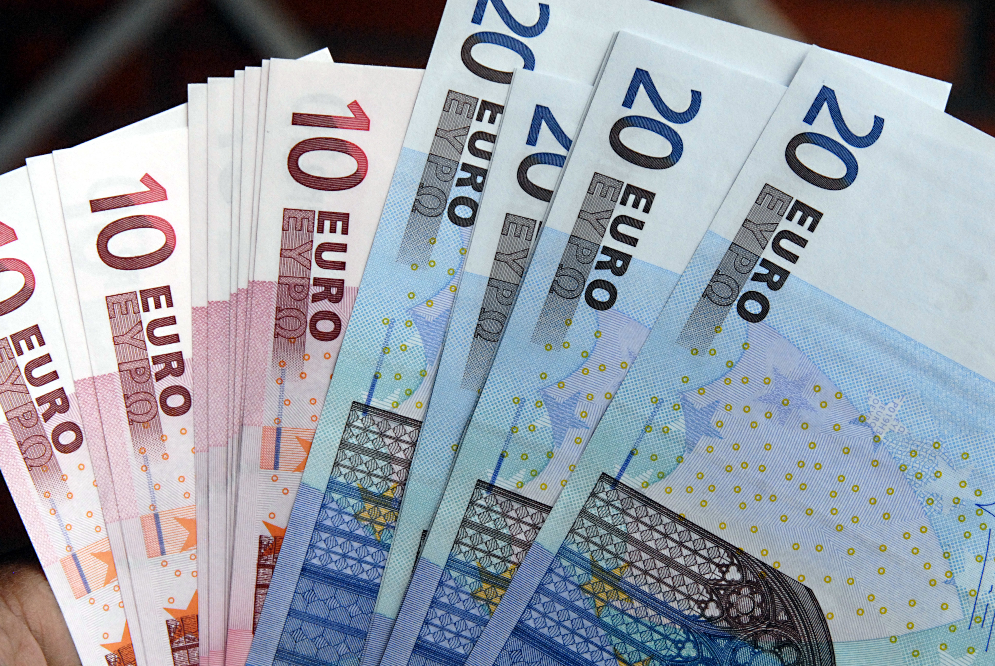 Euros notes pictured on July 20, 2011.