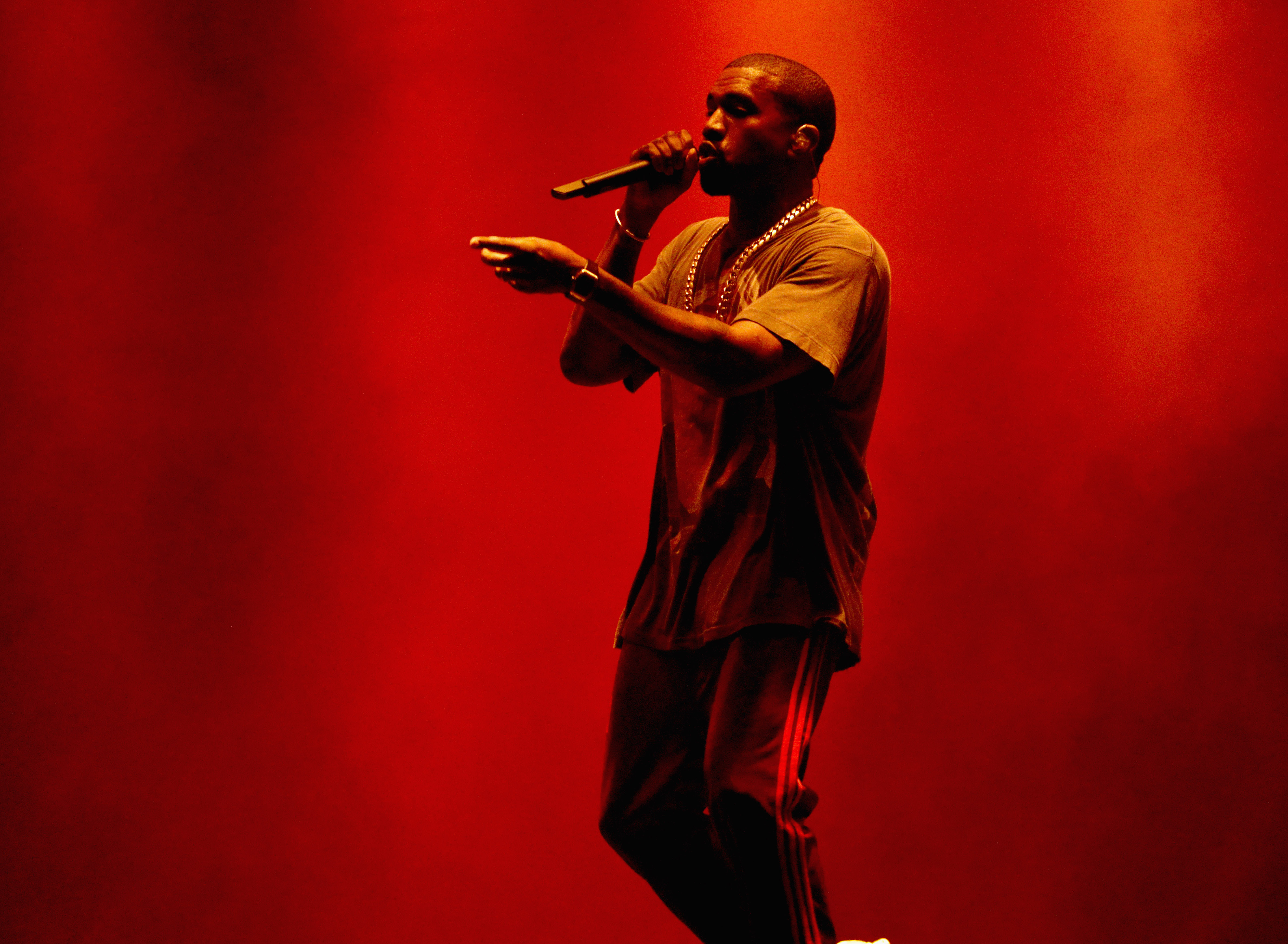 Kanye West performs onstage during The Meadows Music & Arts Festival Day 2 on Oct. 2, 2016 in Queens, New York.