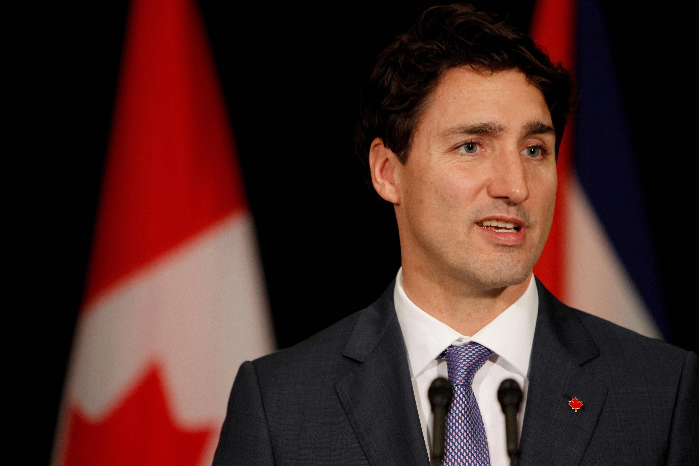 Canadian Prime Minister Justin Trudeau speaks during a press conference in Havana, on Nov. 16, 2016.