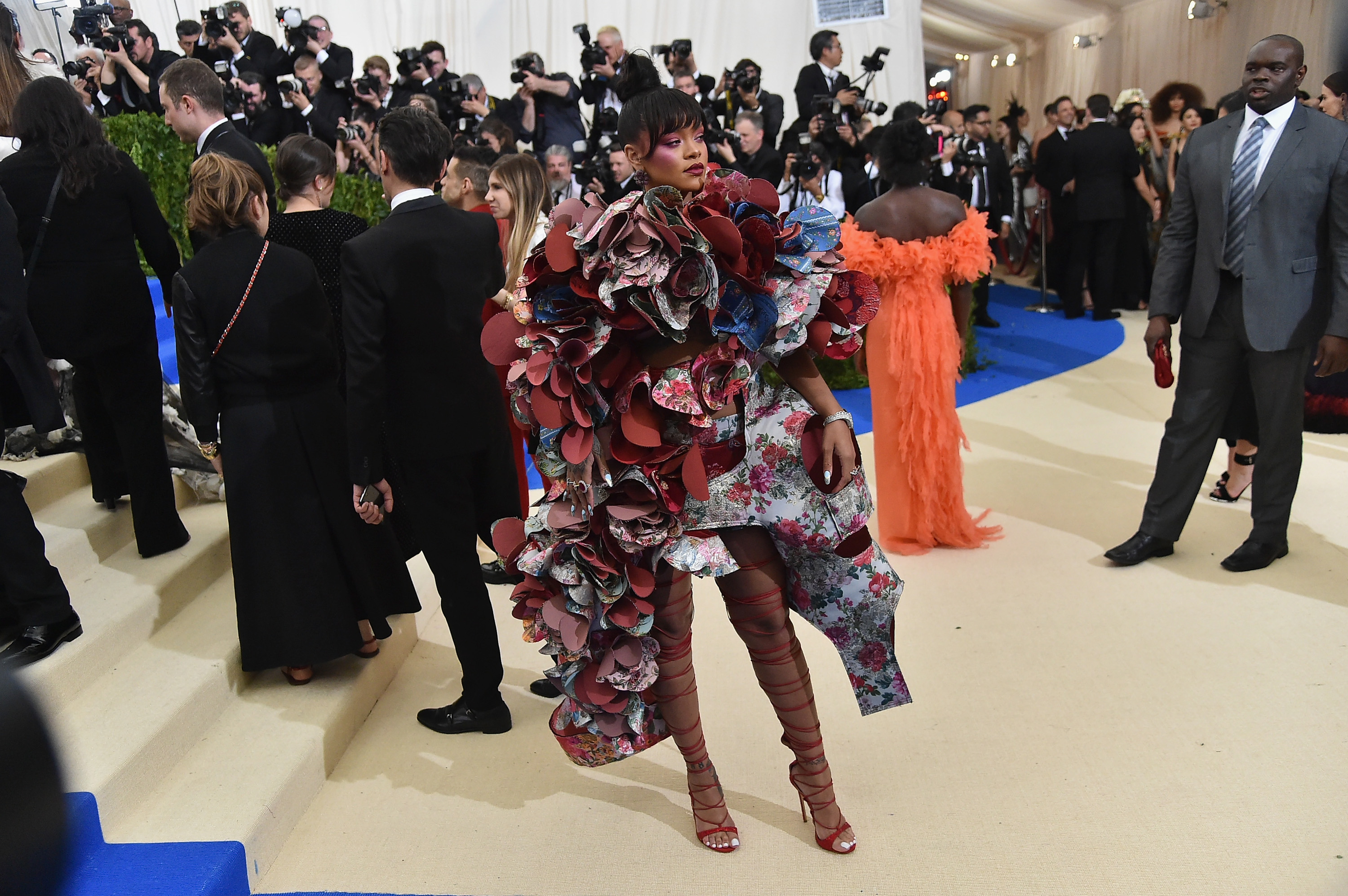Rihanna attends the  Rei Kawakubo/Comme des Garcons: Art Of The In-Between  Costume Institute Gala at Metropolitan Museum of Art on May 1, 2017.