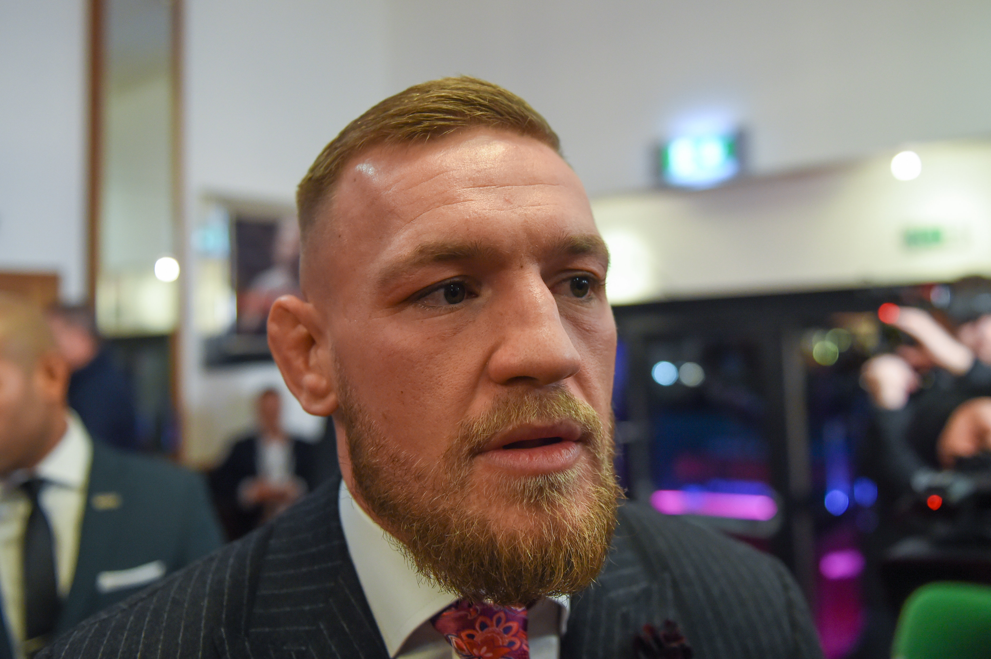 Conor McGregor arrives at the Conor McGregor Notorious film premiere at the Savoy Cinema in Dublin on Nov. 1, 2017