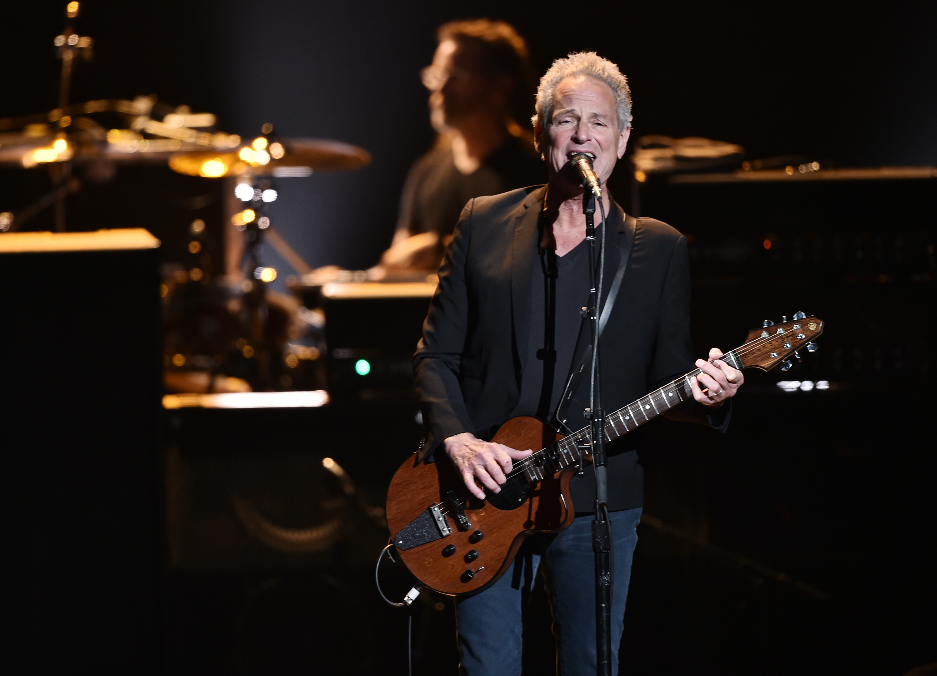 Lindsey Buckingham of Fleetwood Mac performs during in New York City on Jan. 26, 2018.