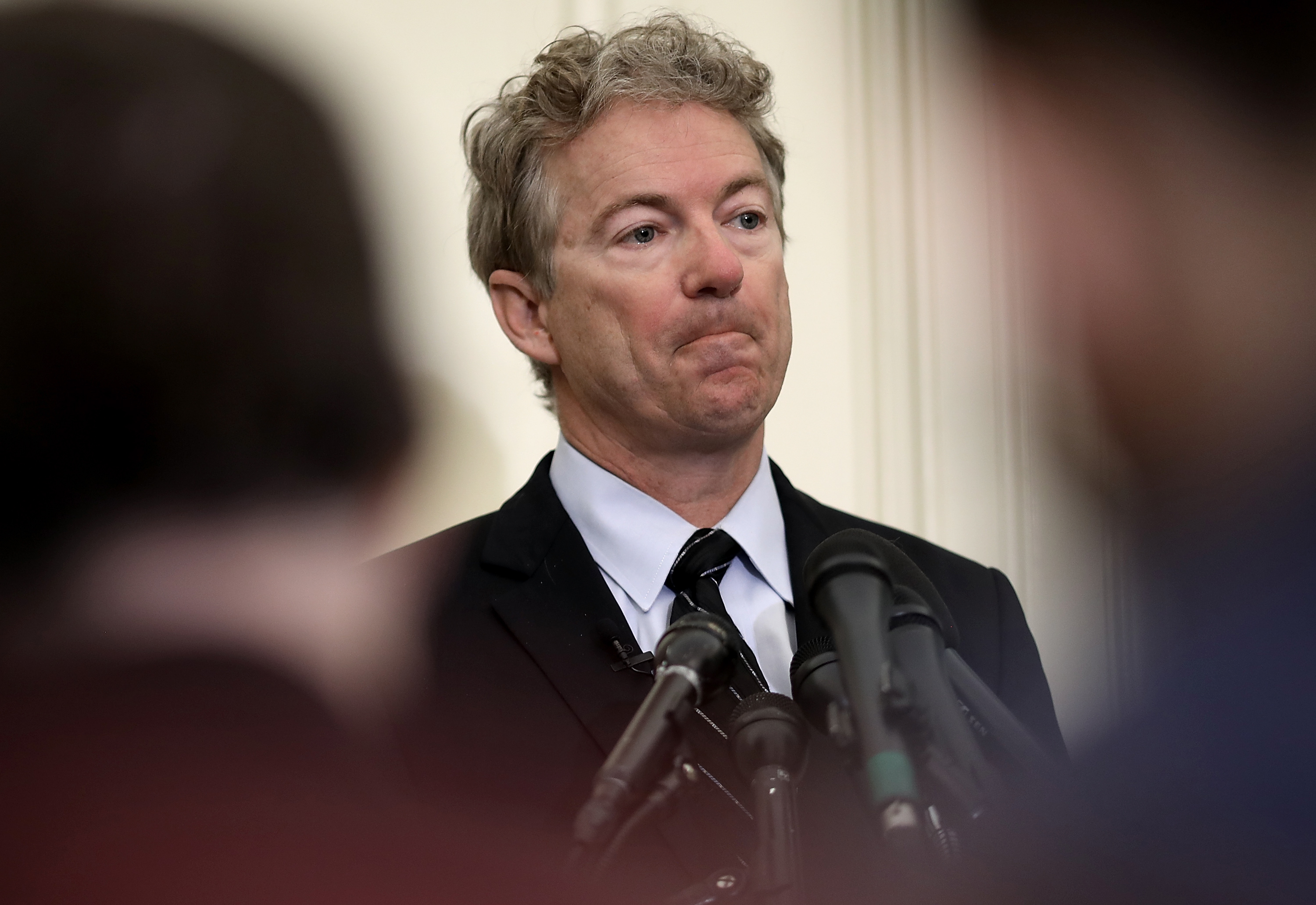 Sen. Rand Paul (R-KY) speaks during a press conference at the U.S. Capitol on March 14, 2018 in Washington, DC.