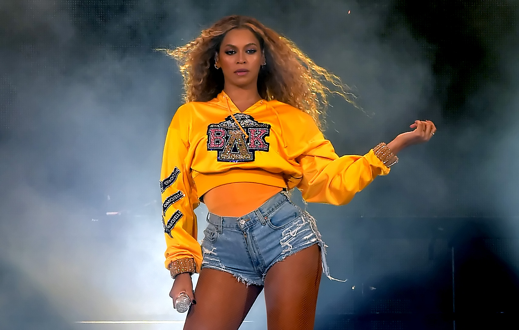 Beyonce Knowles performs onstage during 2018 Coachella Valley Music And Arts Festival Weekend 1 at the Empire Polo Field in Indio, Calif. on April 14, 2018.