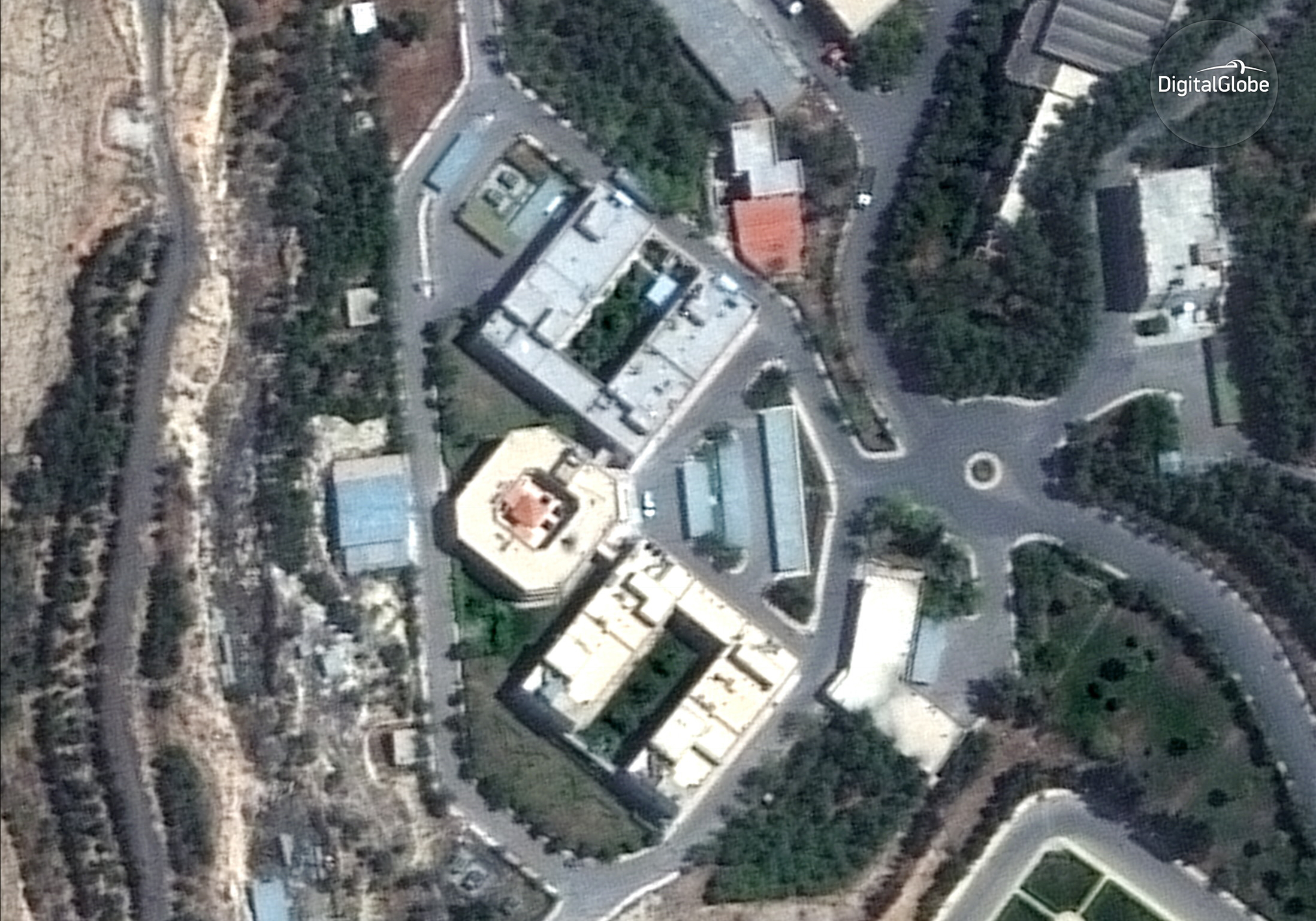 The Barzah Research and Development Center in Damascus, Syria, before it was struck by coalition forces on Saturday.