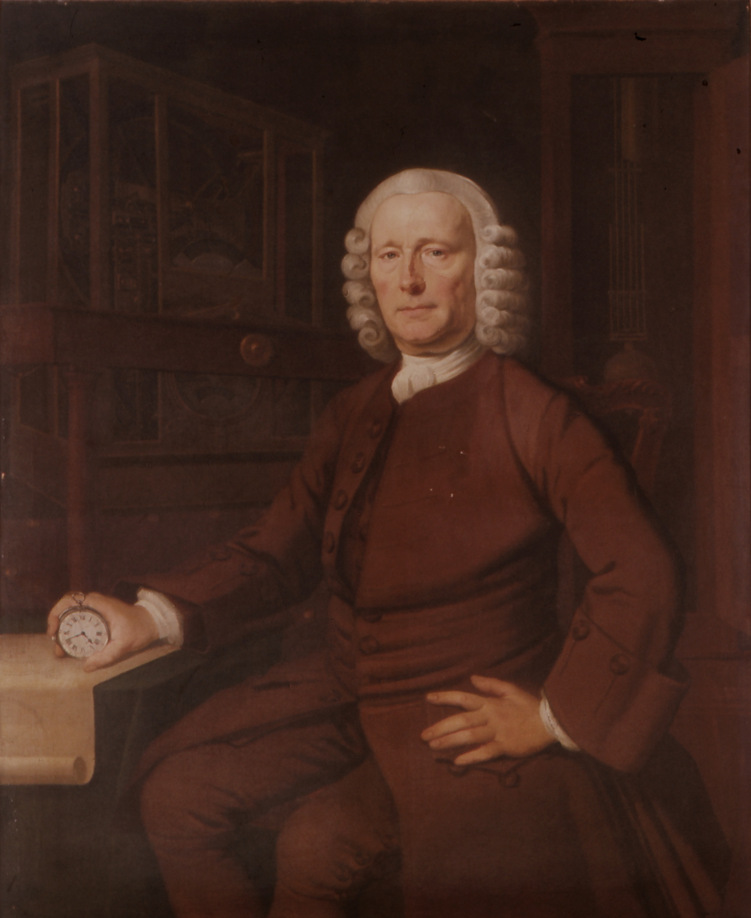 John Harrison, (1693-1776). Inventor of the marine chronometer in 1757. A self-educated English carpenter and clockmaker who invented the marine chronometer, solving the problem of calculating longitude while at sea. He was awarded a government prize for its accuracy
