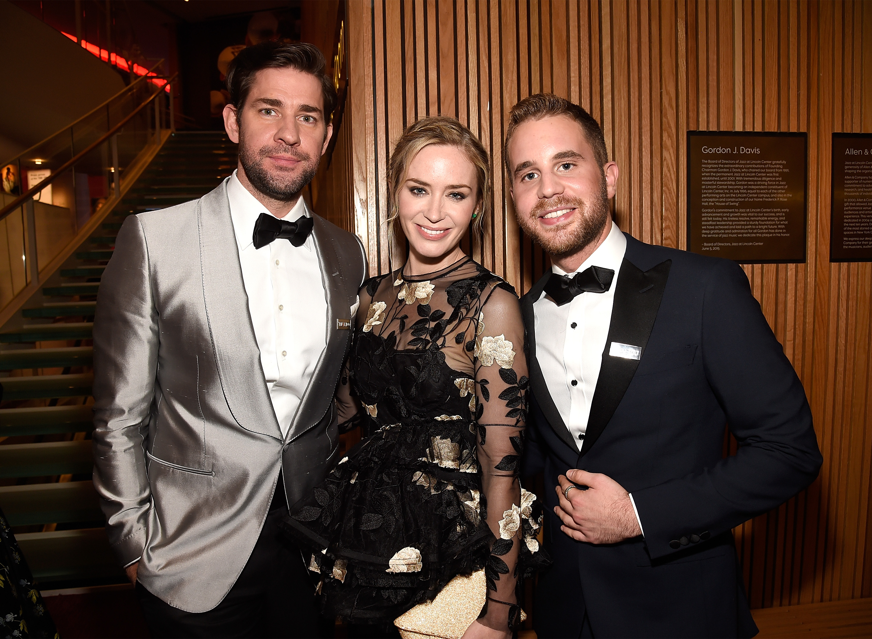 Actors John Krasinski, Emily Blunt and Ben Platt attend the 2018 Time 100 Gala at Jazz at Lincoln Center on April 24, 2018 in New York City.