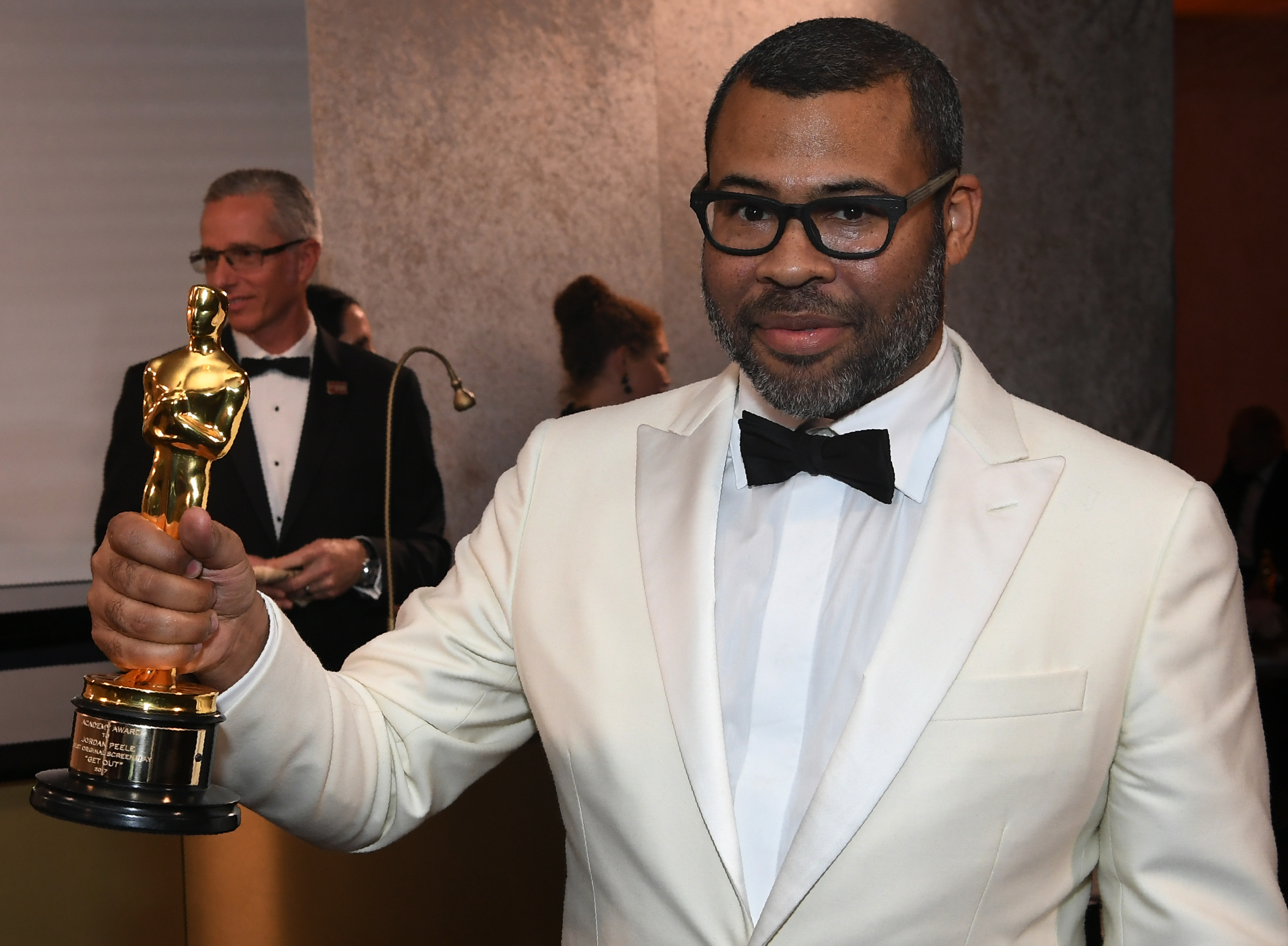 Best Original Screenplay laureate for  Get Out  director Jordan Peele attends the 90th Annual Academy Awards Governors Ball at the Hollywood & Highland Center on March 4, 2018, in Hollywood, California. / AFP PHOTO / ANGELA WEISS        (Photo credit should read ANGELA WEISS/AFP/Getty Images)