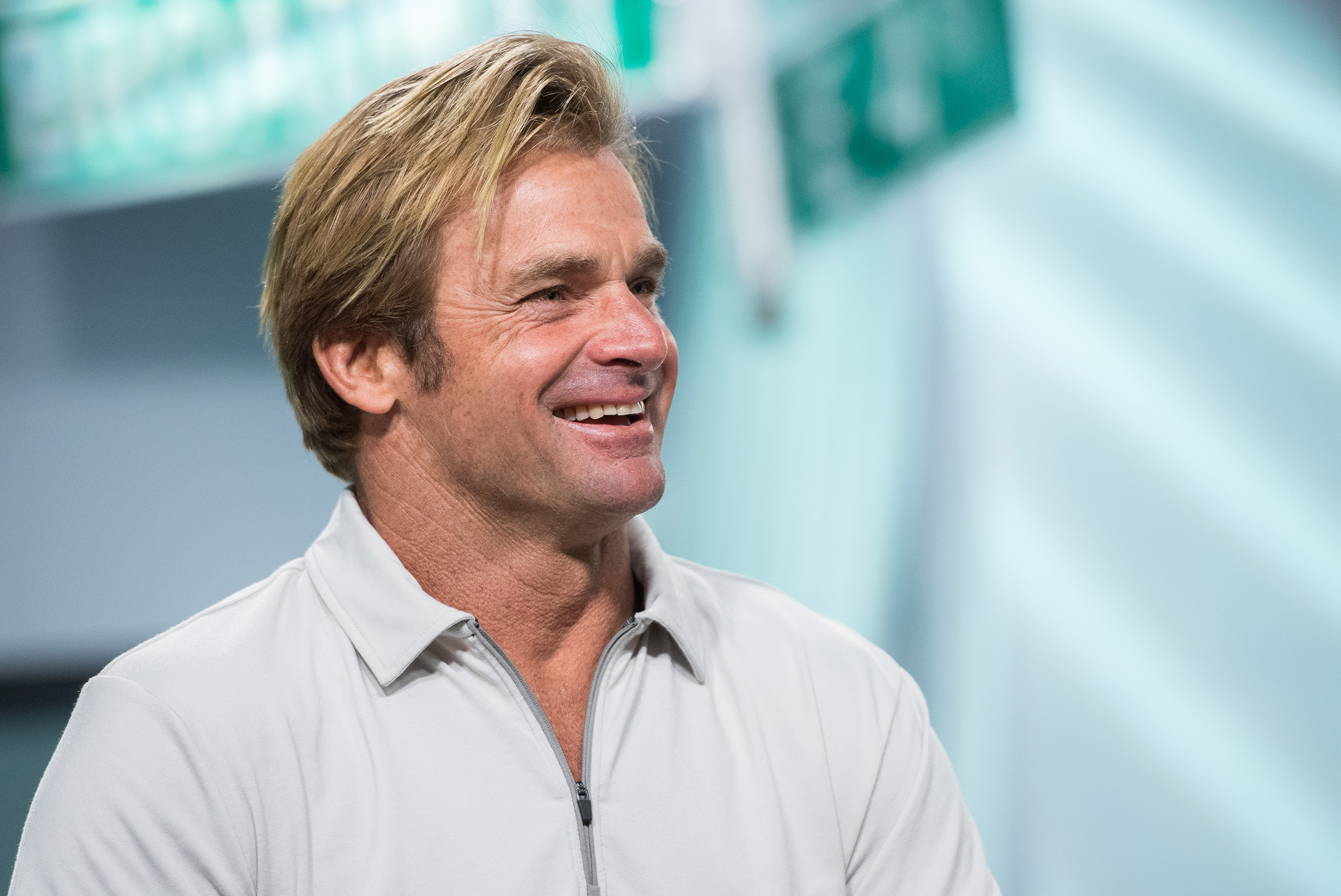 NEW YORK, NY - OCTOBER 05: Laird Hamilton visits Build Series to discuss  Take Every Wave: The Life Of Laird Hamilton  at Build Studio on October 5, 2017 in New York City. (Photo by Mike Pont/Getty Images)