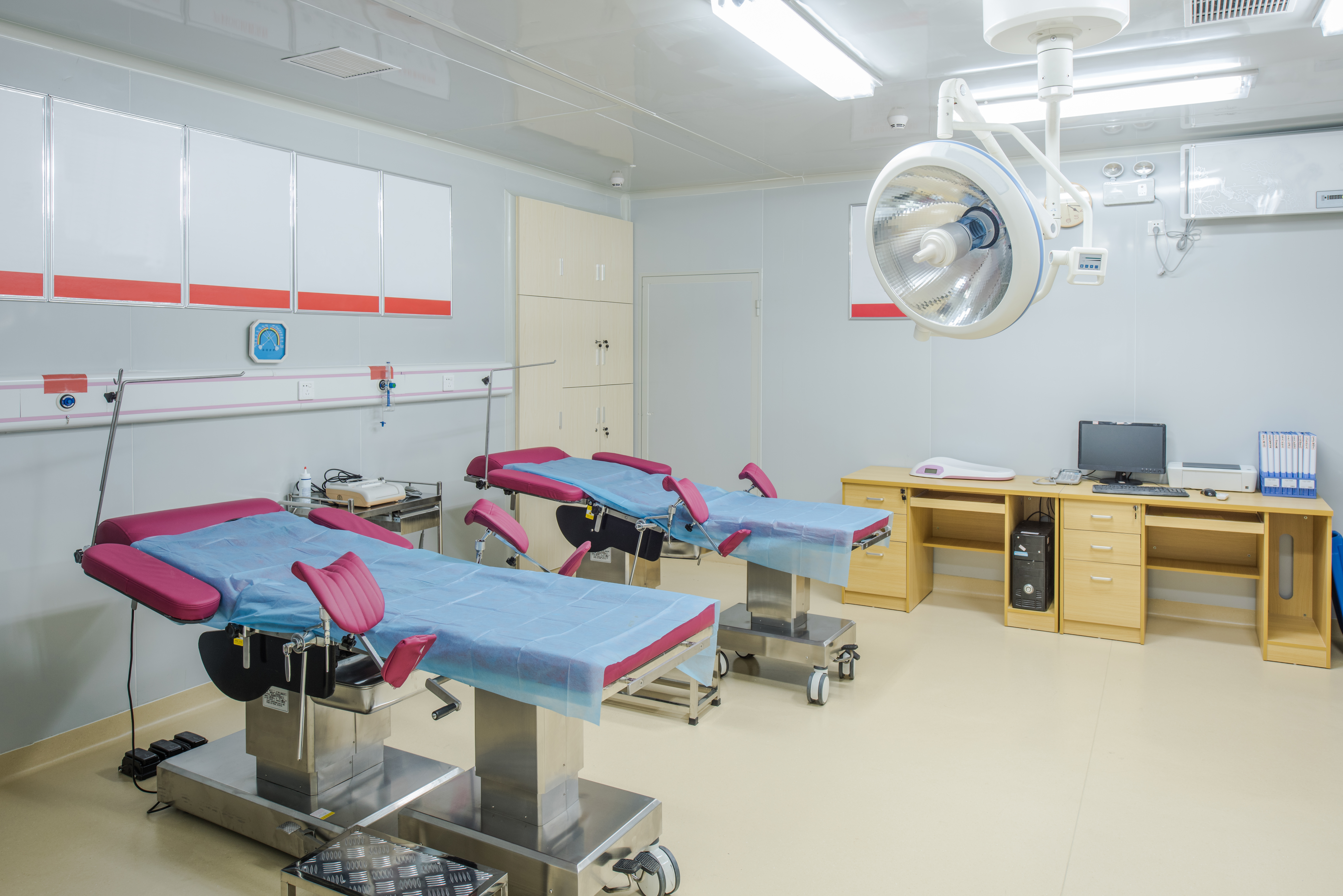 Hospital delivery room.