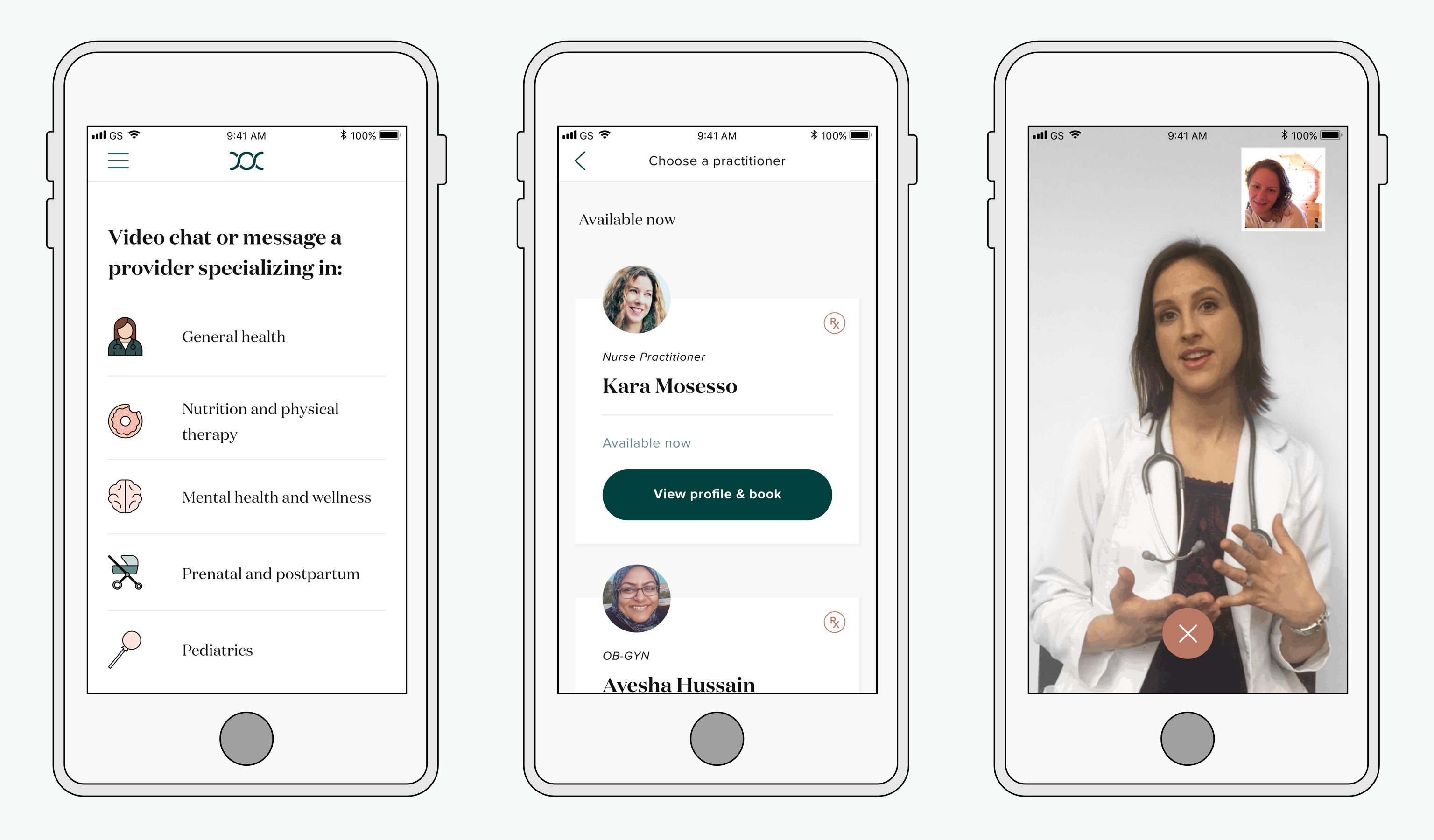 Maven healthcare app. Courtesy of Maven.