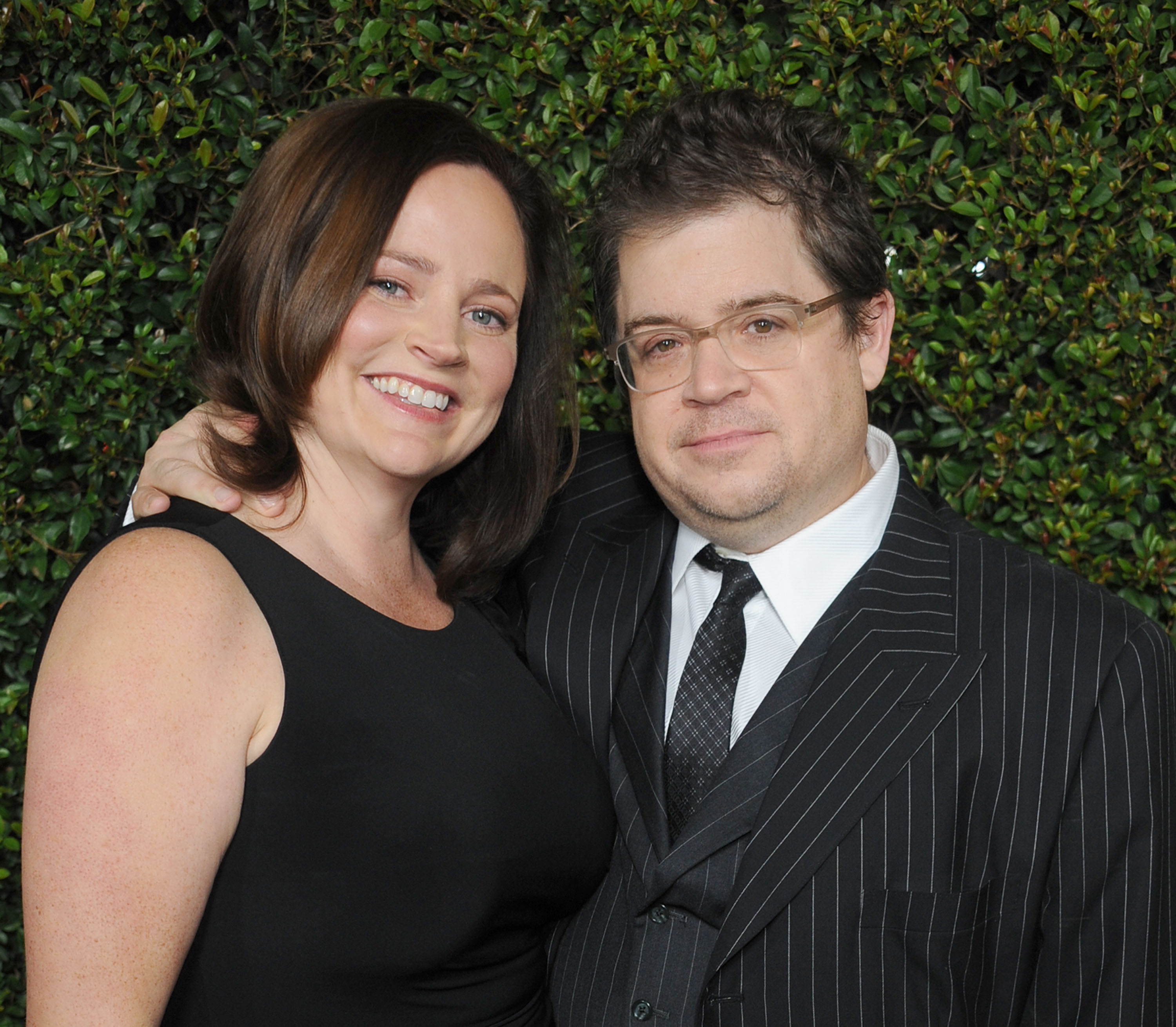 Actor Patton Oswalt and wife Michelle McNamara arrive at the  Young Adult  Los Angeles Premiere at AMPAS Samuel Goldwyn Theater on December 15, 2011 in Beverly Hills, California.