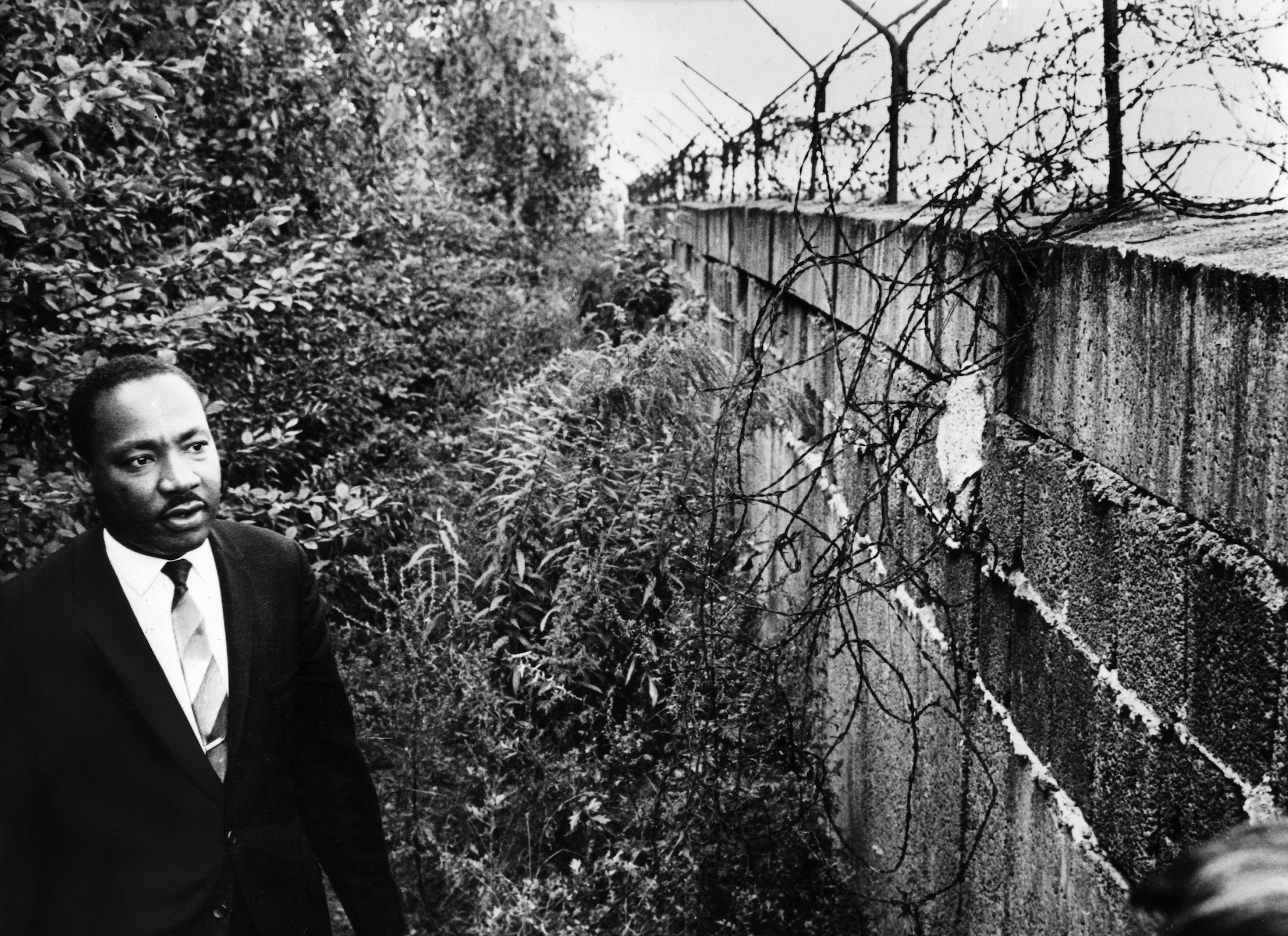 Martin Luther King at the Berlin Wall in 1964